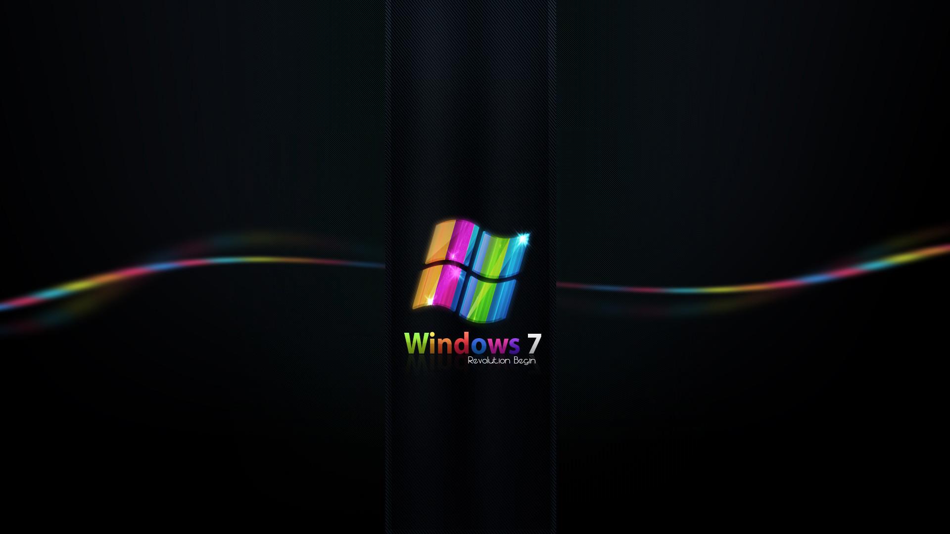 Rainbow Colored Windows 7