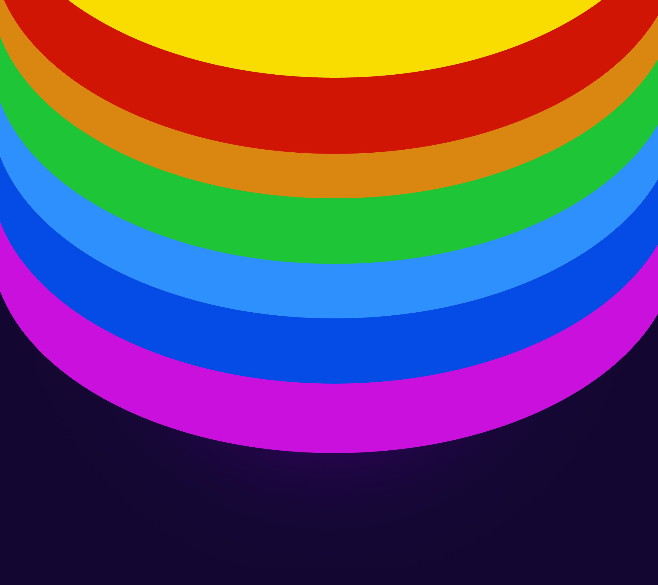 Rainbow colored circles Wallpaper