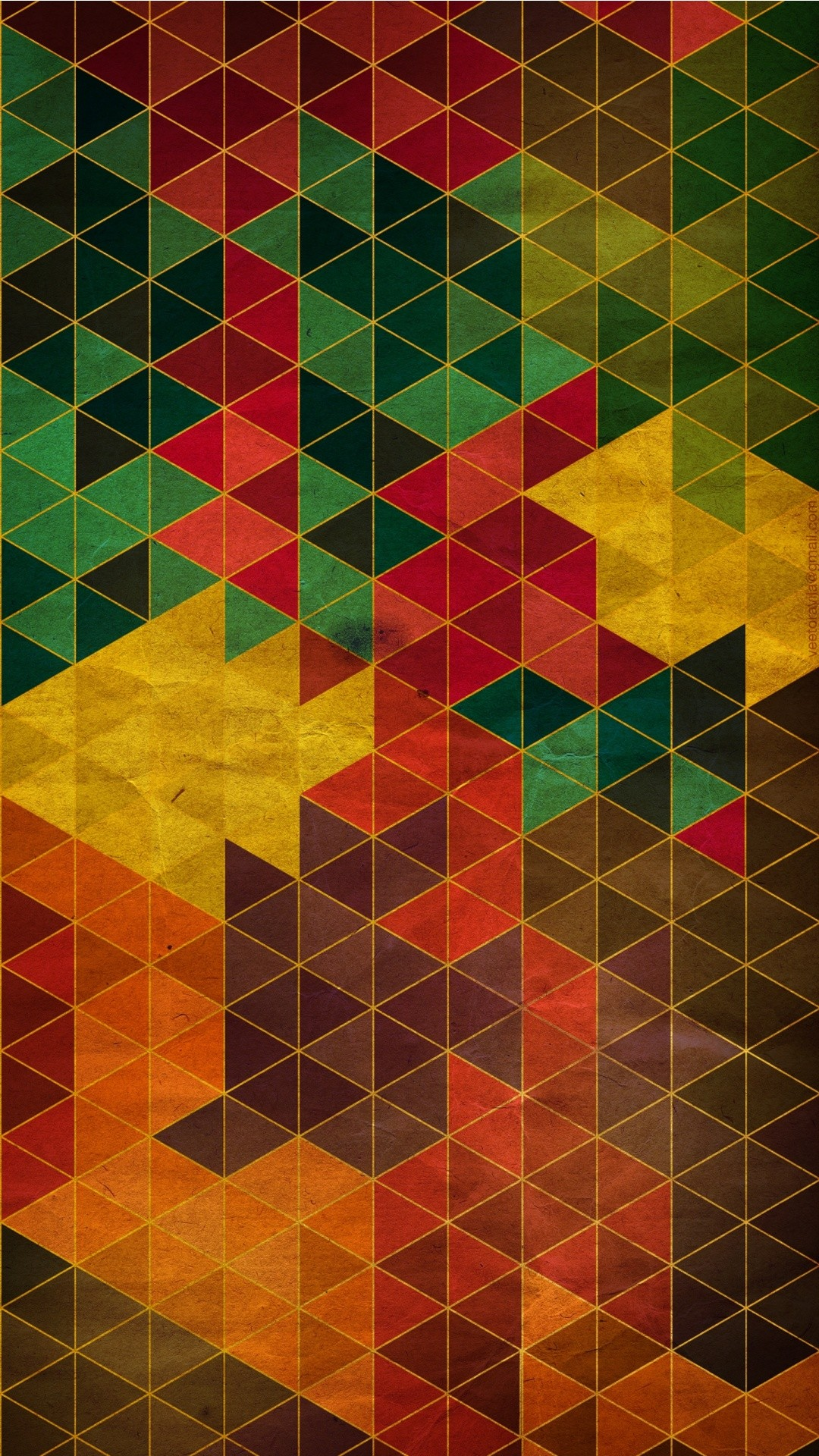 Tap image for more beautiful iPhone background! Cool Warm Colors Geometric  – @mobile9  