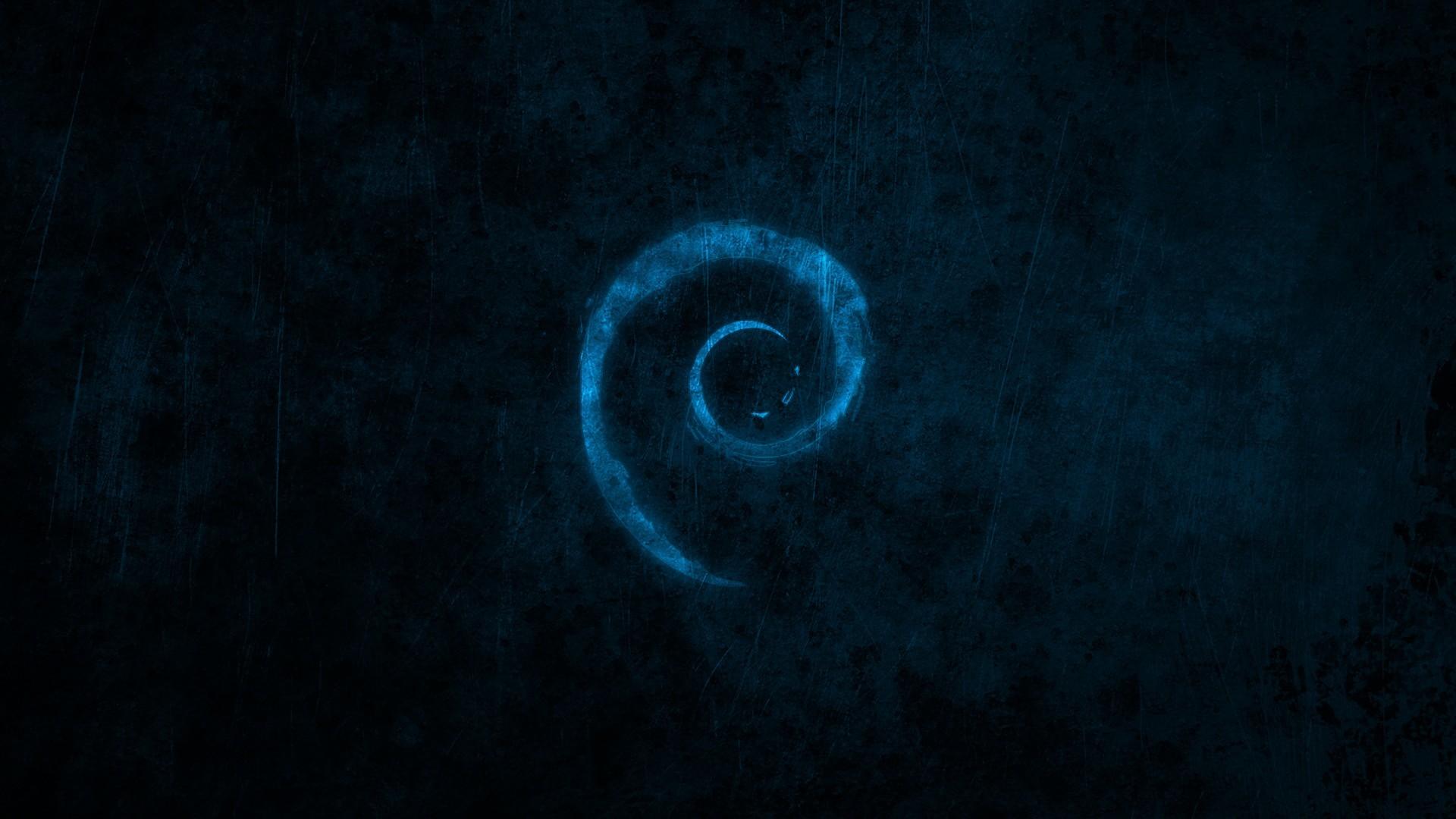 Water Blue Dark Linux Debian Brands Logos New HD Wallpaper