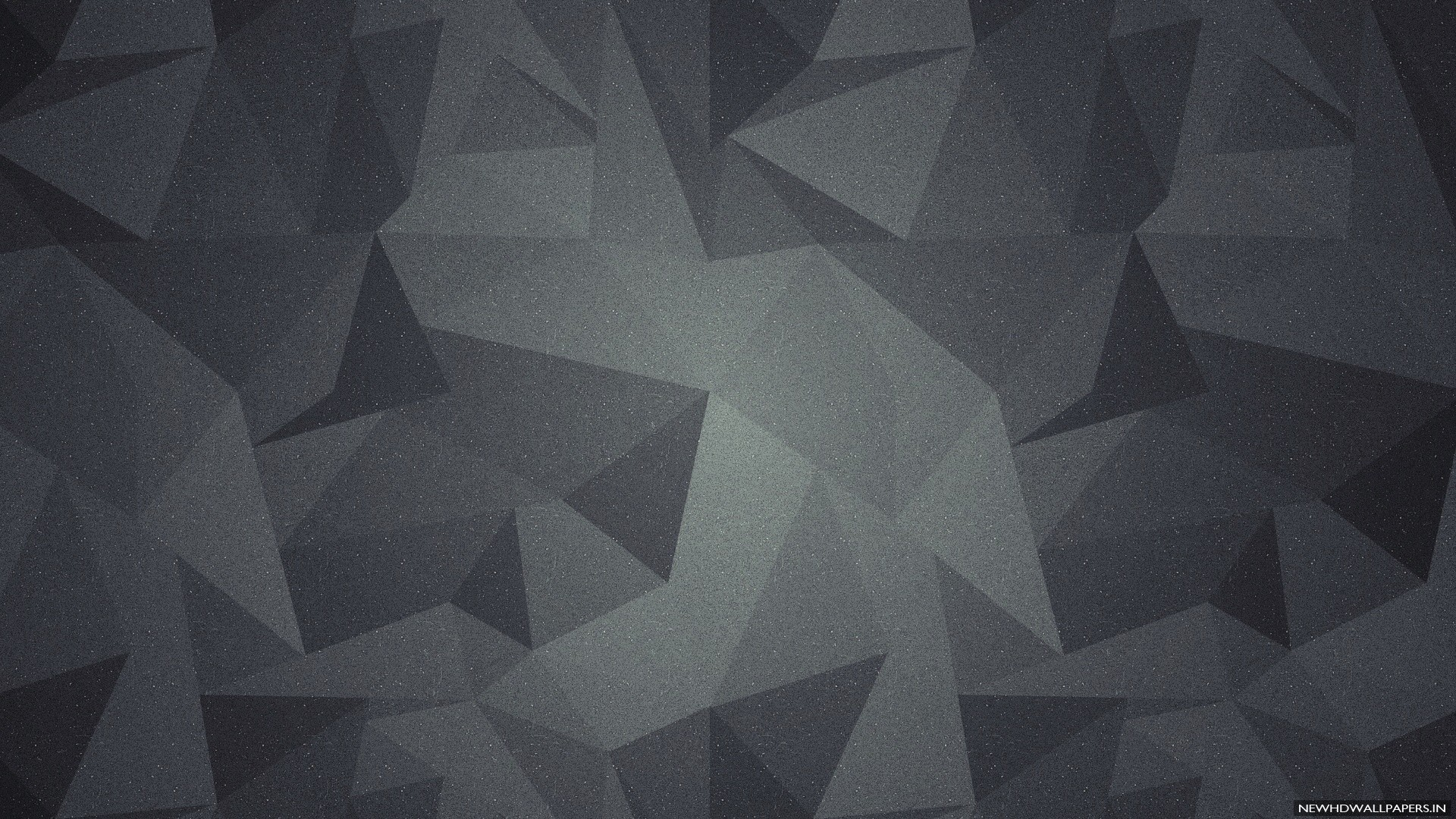 3D geometric abstract shapes dark background .