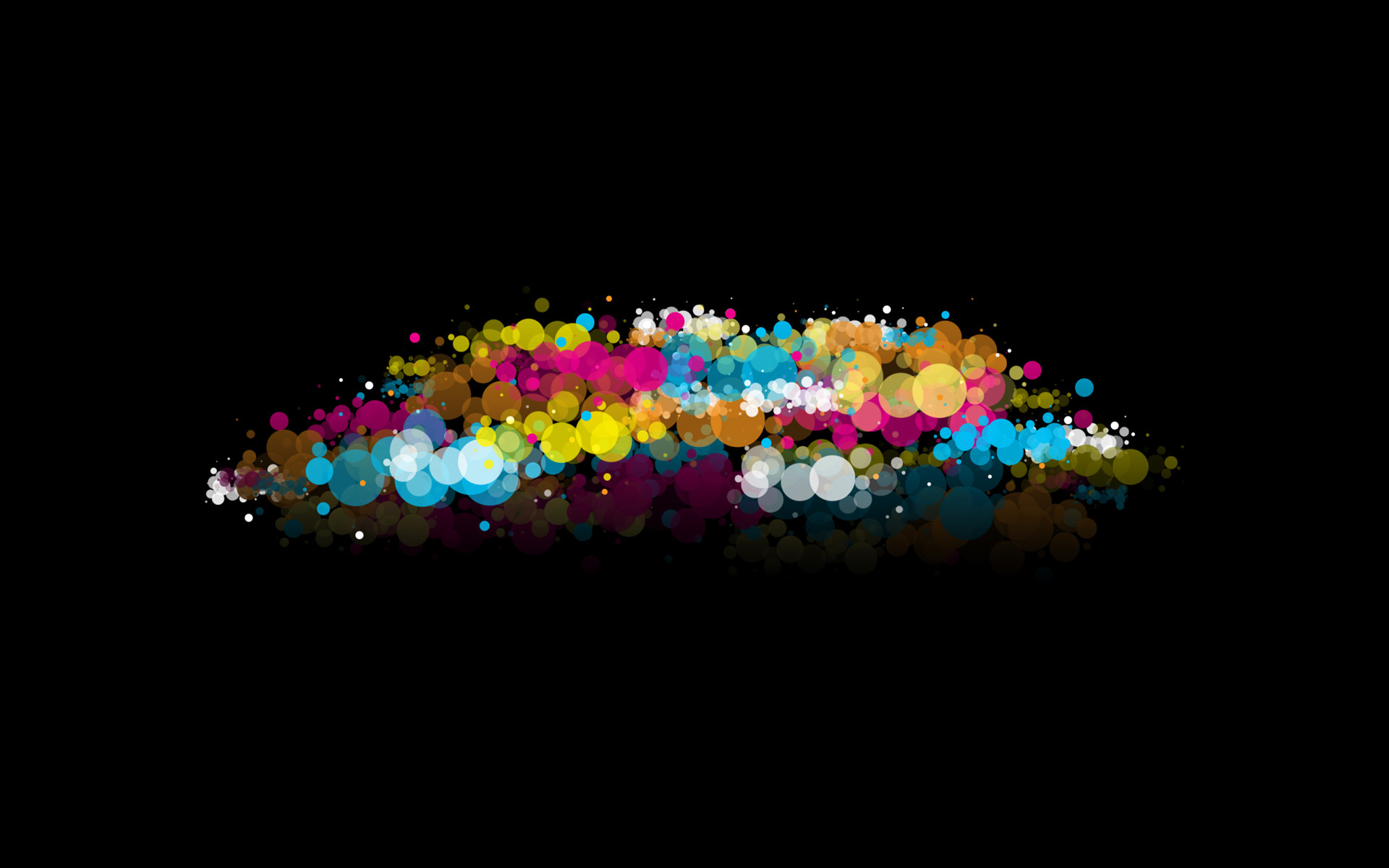Abstract Black Background Bubbles Dots Multicolor …