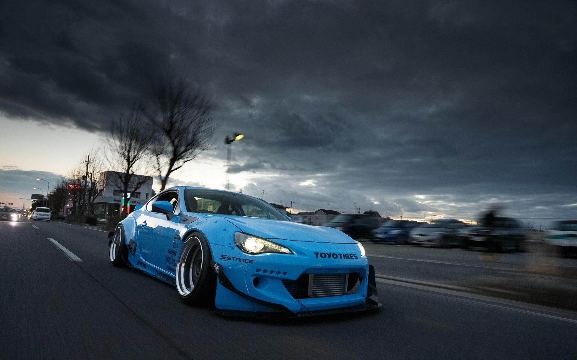 Toyota GT 86 Blue Car Wallpaper