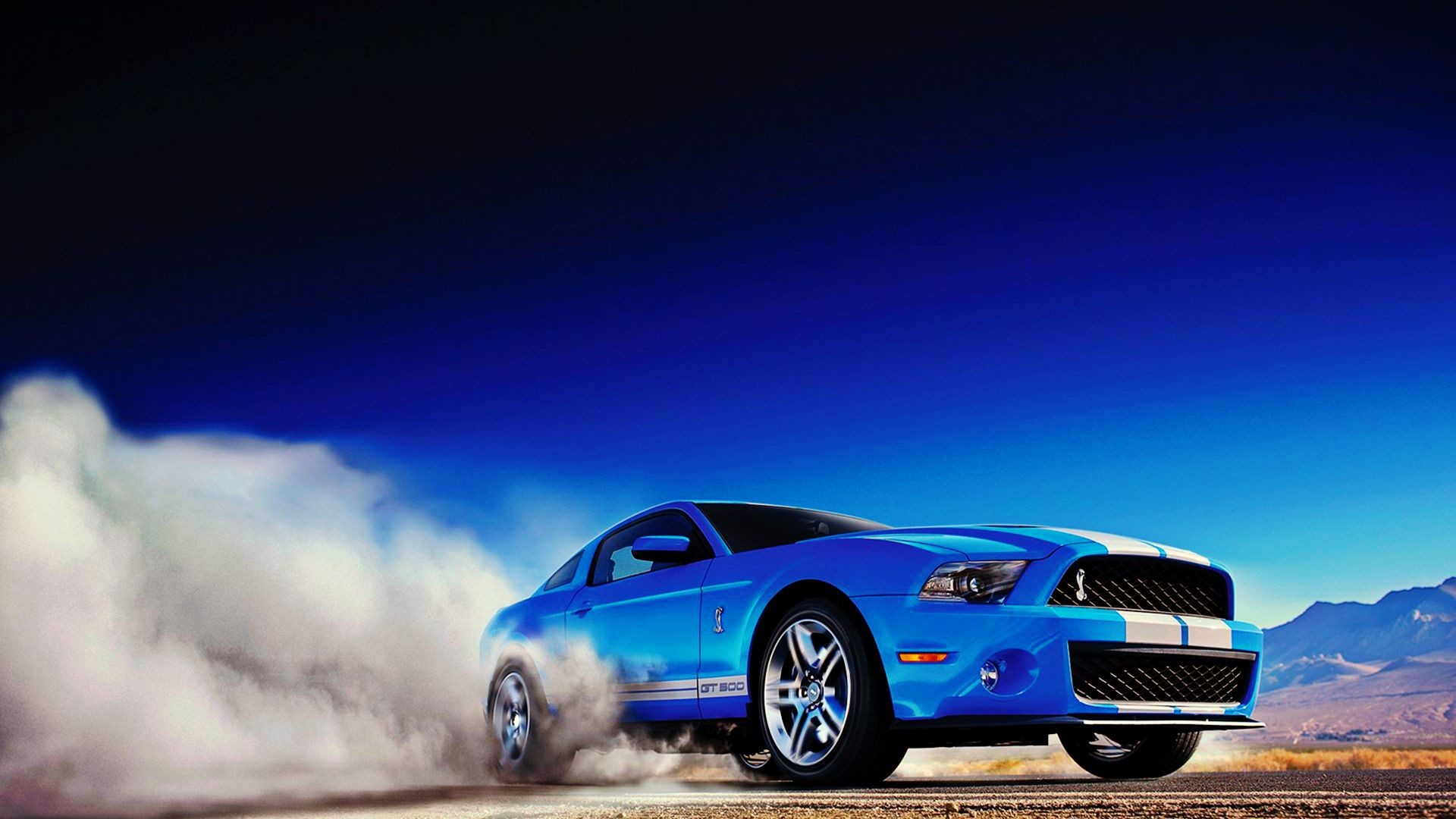 blue sports car wallpaper
