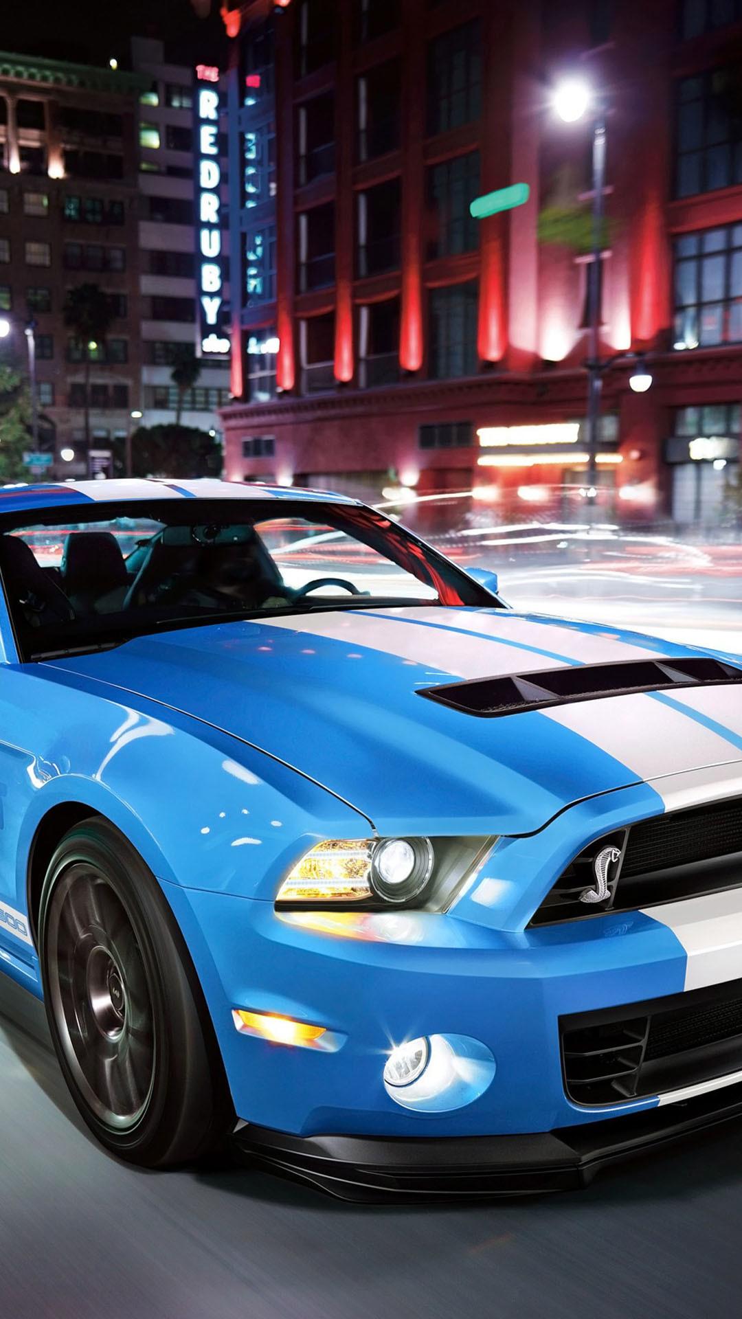 Light Blue Ford Shelby Sport Car
