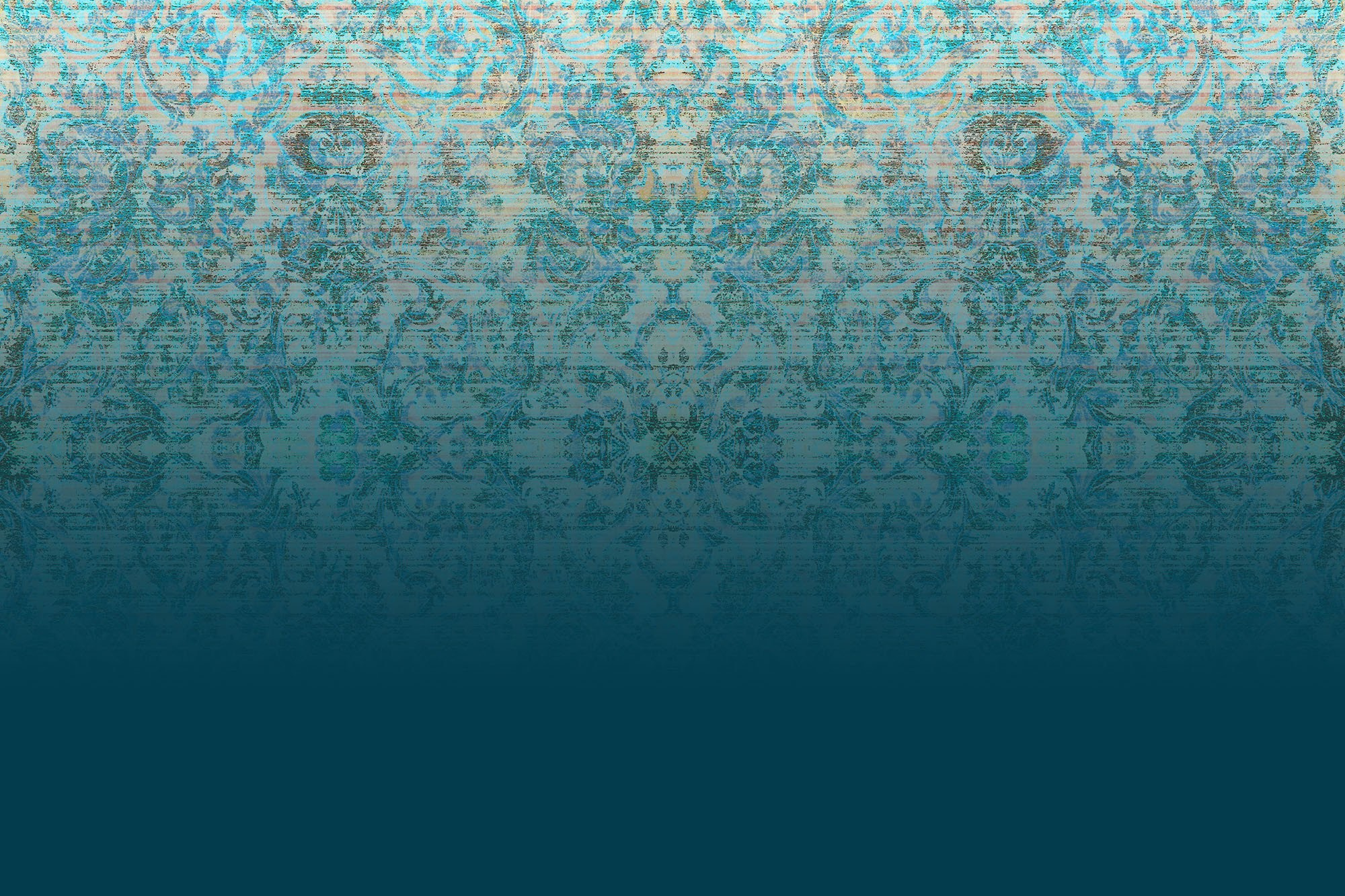 Chapelle Blue Blush Wallpaper