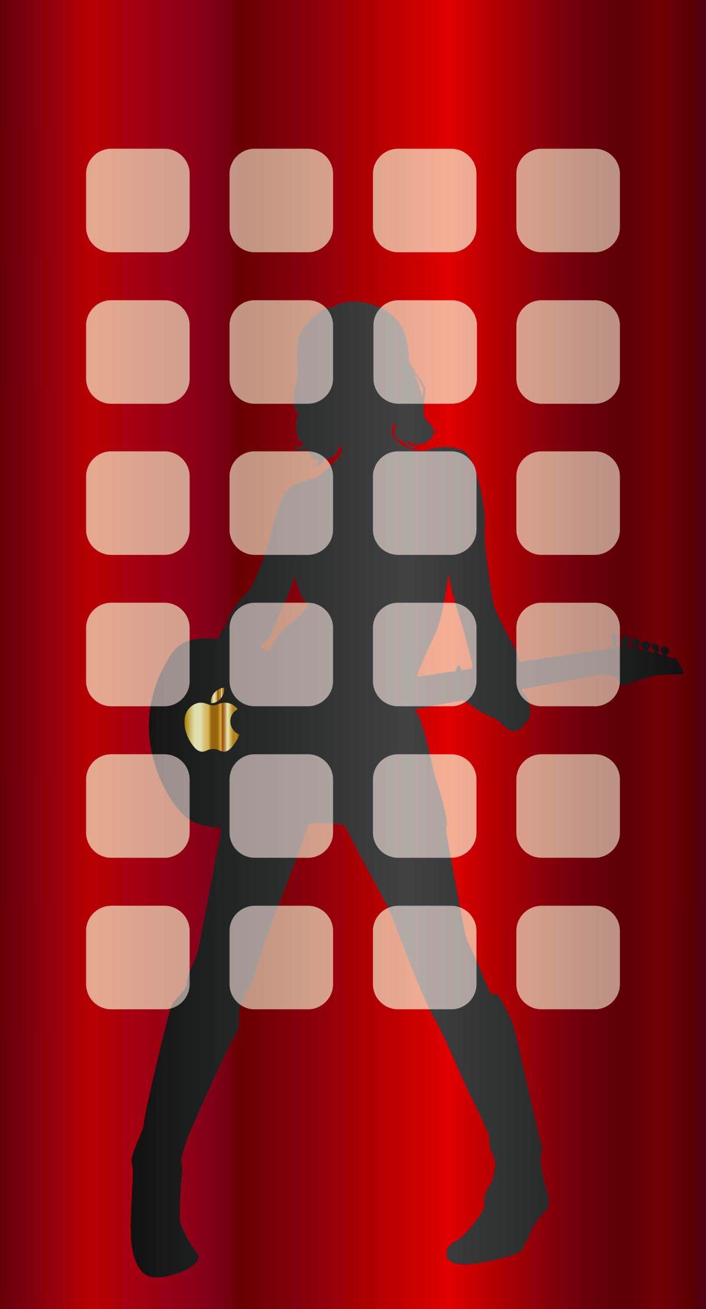 Cool shelf apple red iPhones Wallpaper is