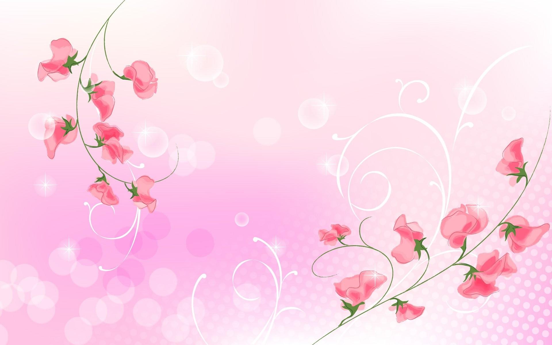 Pink Flower Background 821591