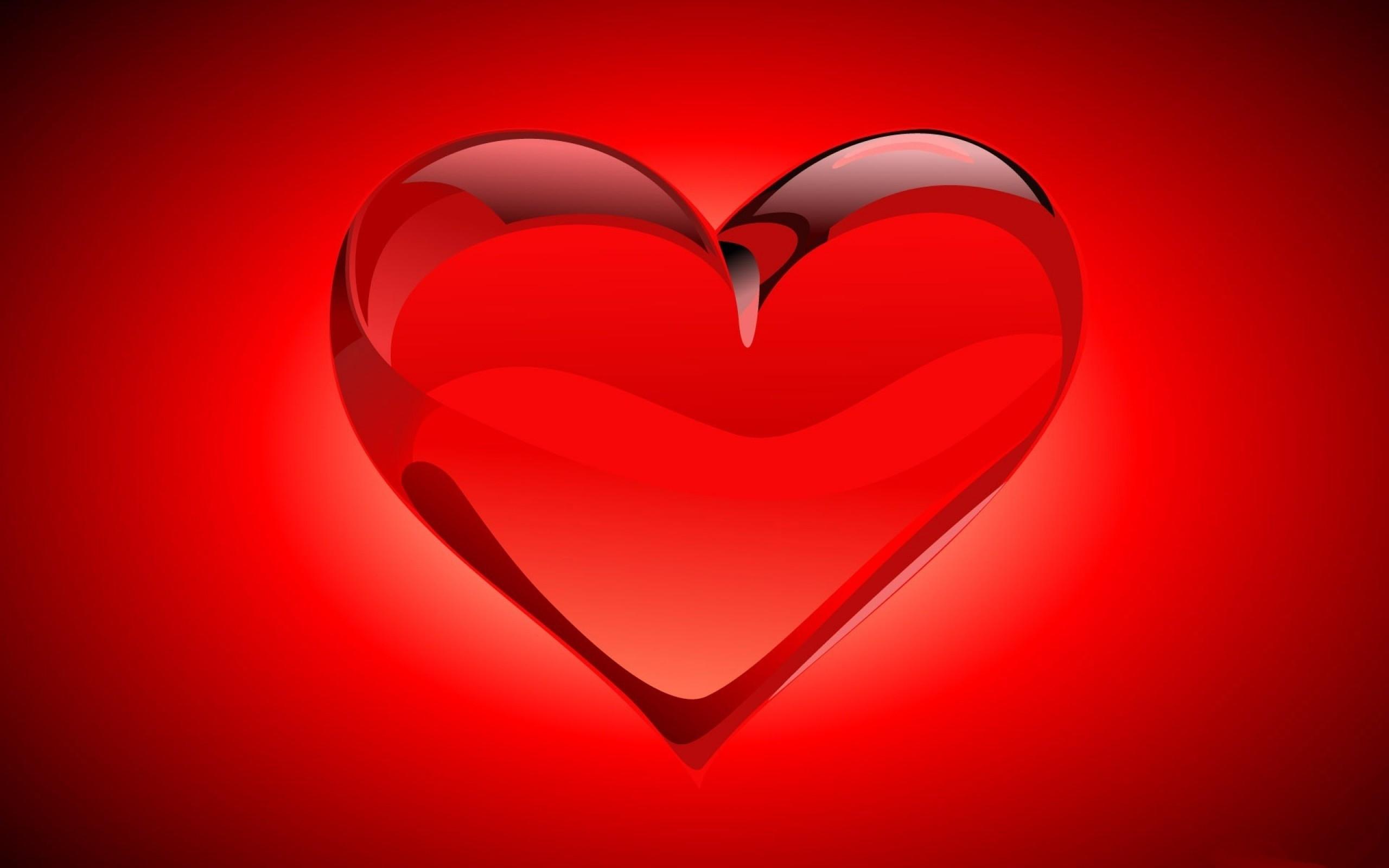 Wallpaper heart, red, bright, light