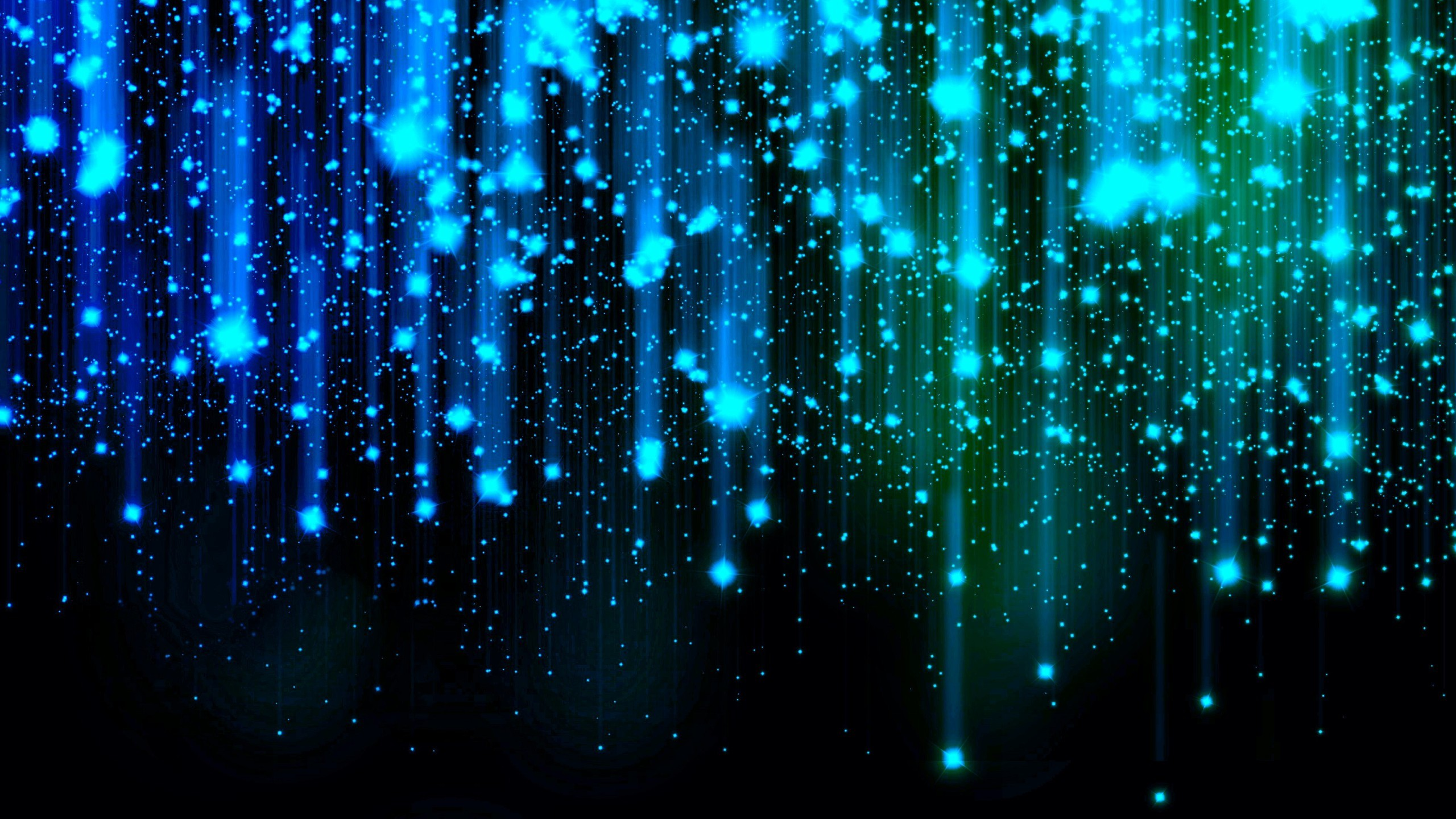 Blue Sparkle Glow Abstract Wallpaper 2560×1440.