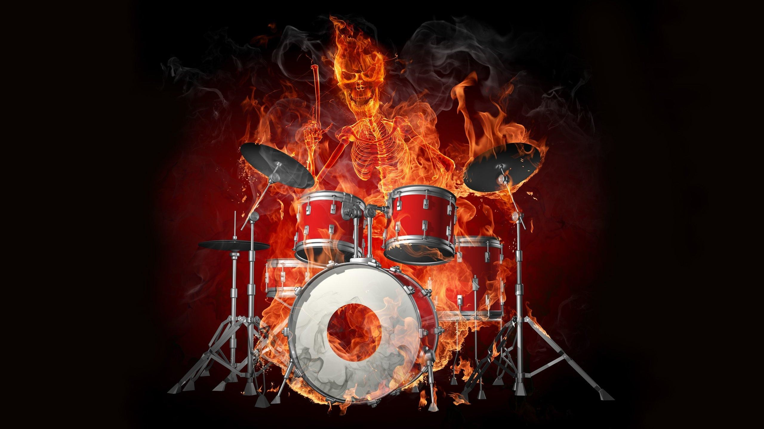 """AWESOME SKULLS """" N """" STUFF images drums fire demon skull stuff hd wallpaper  HD wallpaper and background photos"""