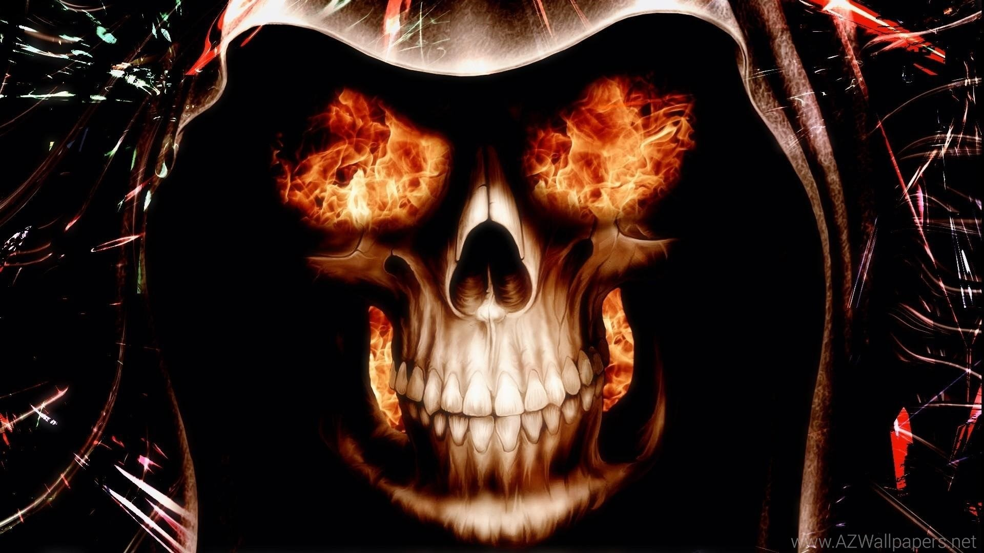 Blue Fire Skull Wallpaper – WallpaperSafari