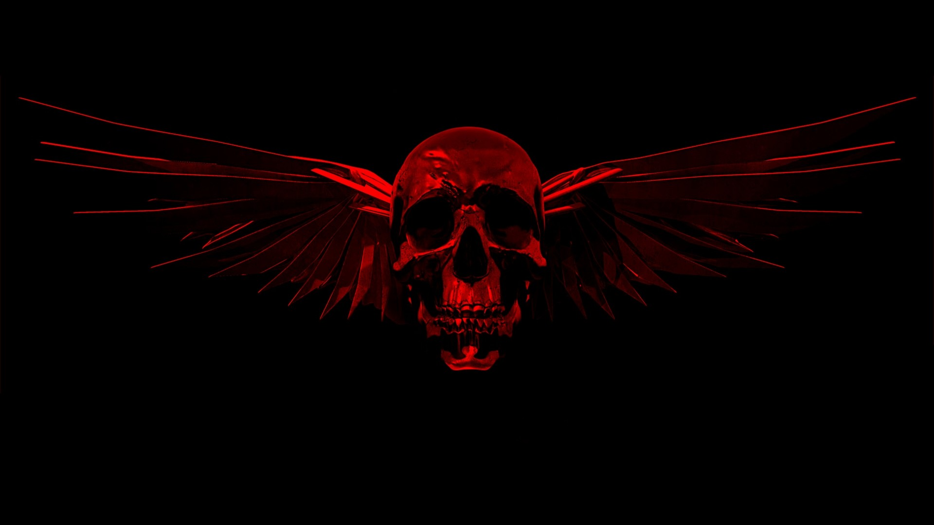 Red And Black Skull Wallpapers (45 Wallpapers)