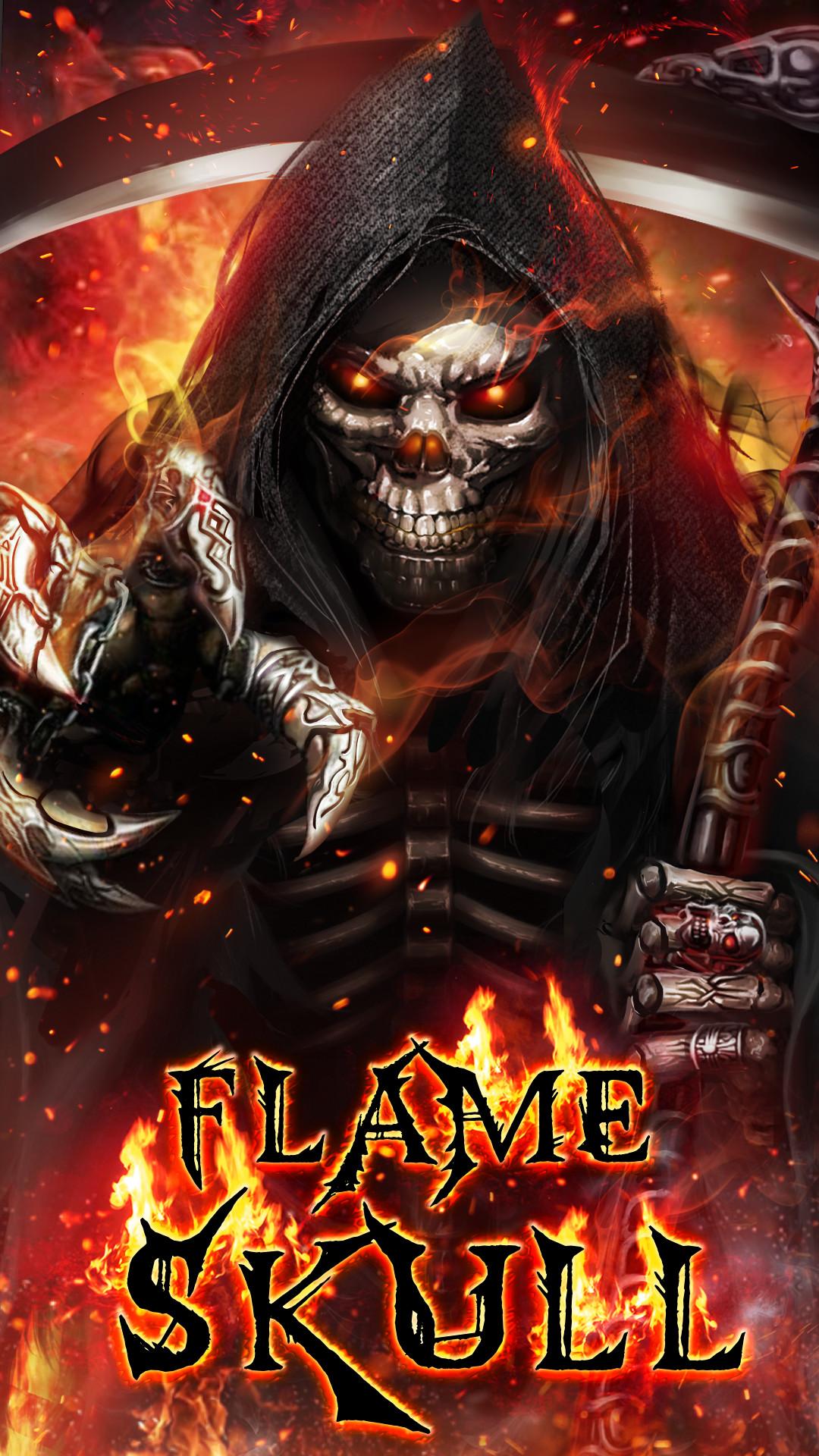 Flame skull live wallpaper!
