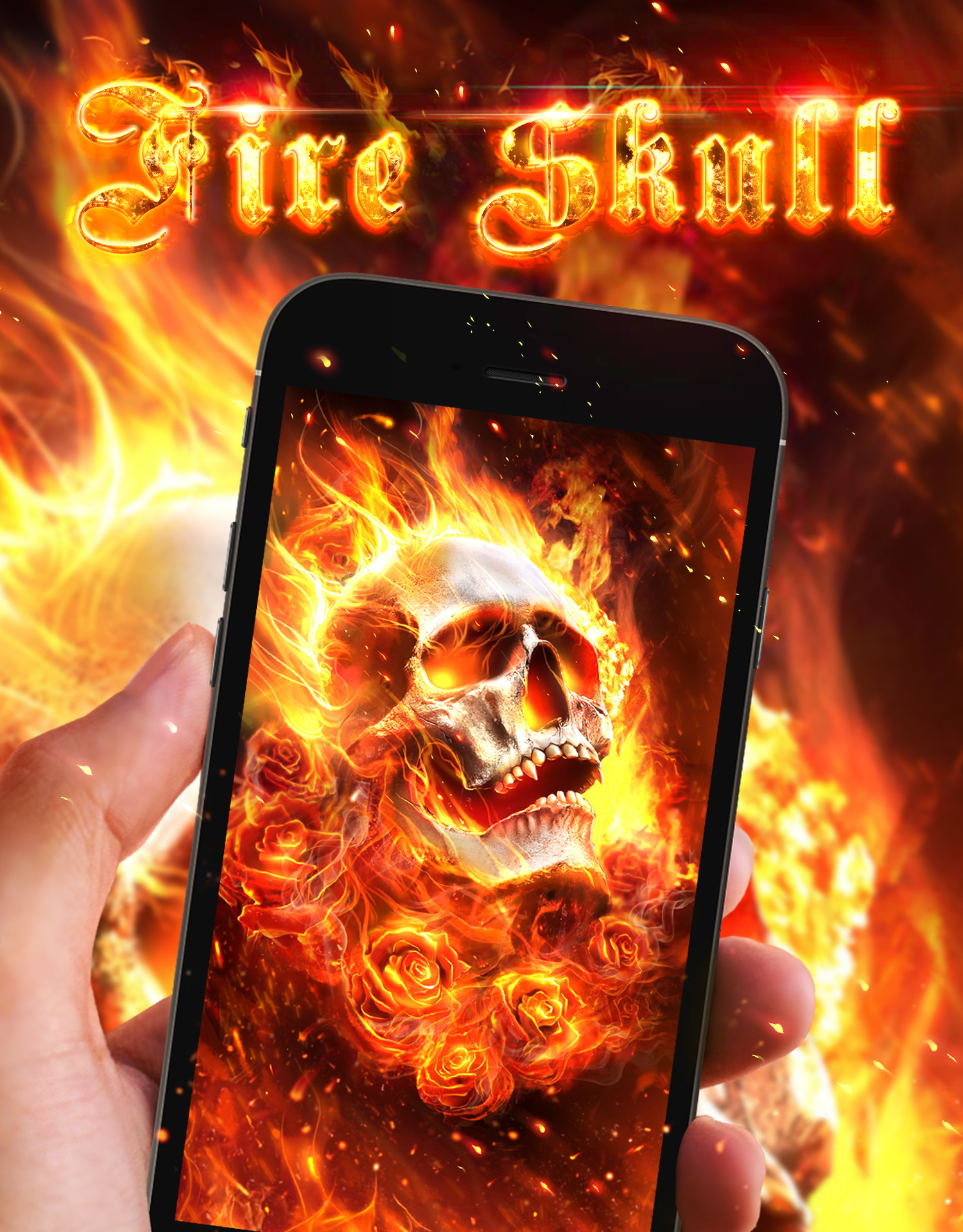 Cool fire skull live wallpaper!