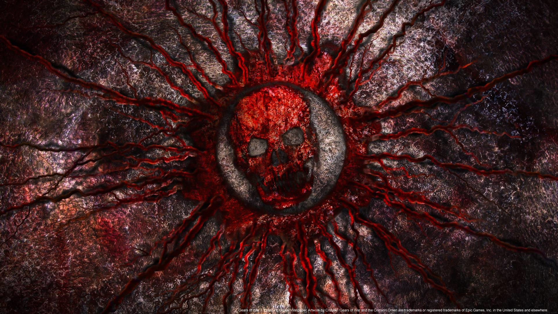 Video Game – Gears Of War 3 – Blood – Logo – Skull Wallpaper