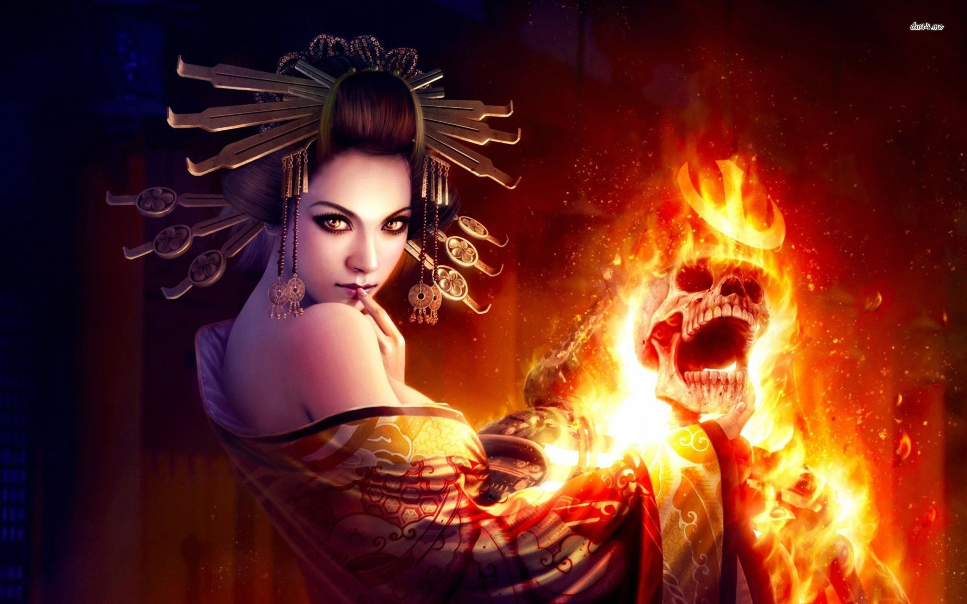 Deadly Geisha. SHARE. TAGS: Skull Flame …