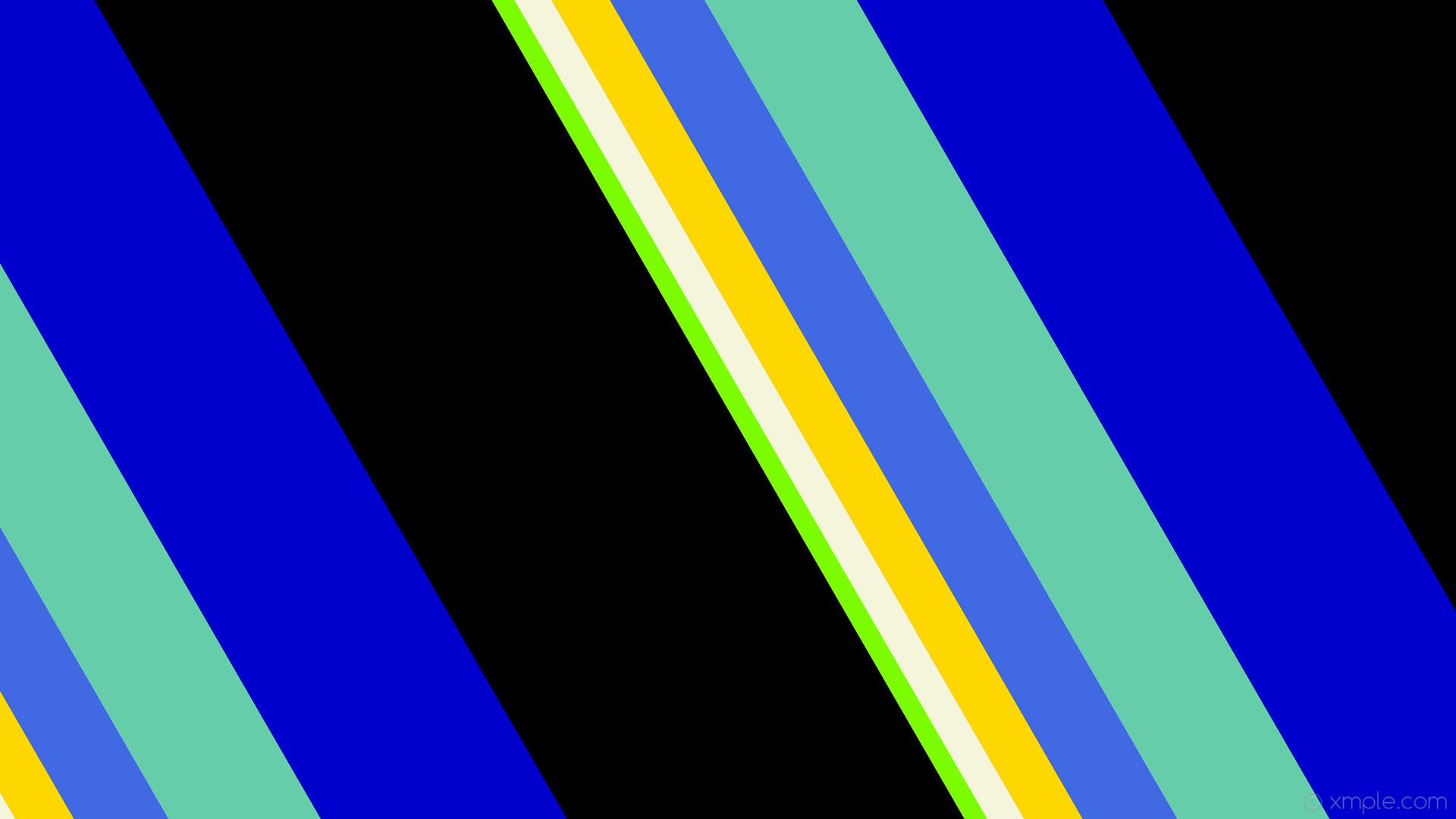 wallpaper green streaks black stripes yellow blue lines white lawn green  beige gold royal blue medium