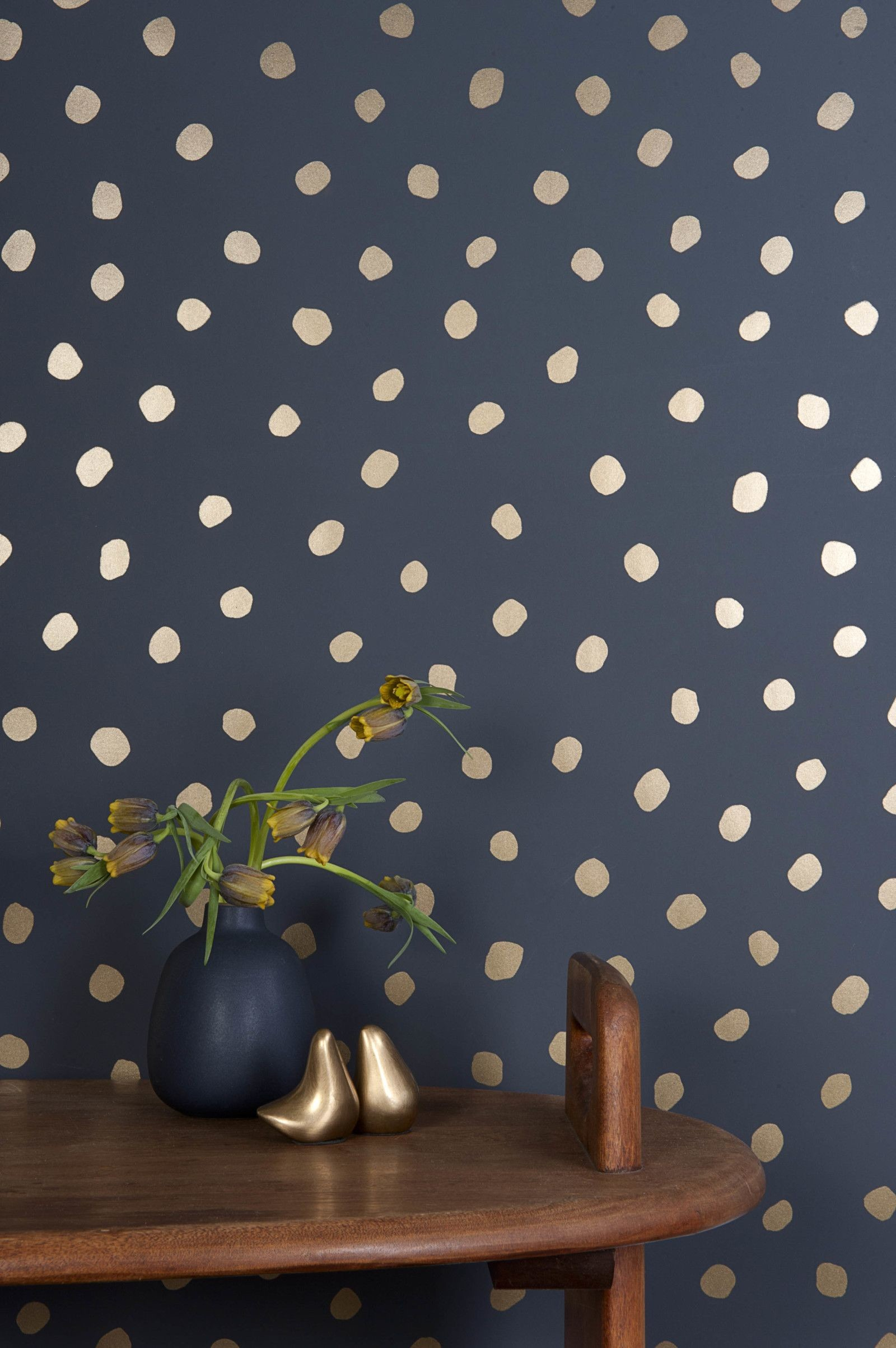Polka Dot Walls Will Pop Anywhere In Your Home! Navy WallpaperBlue …