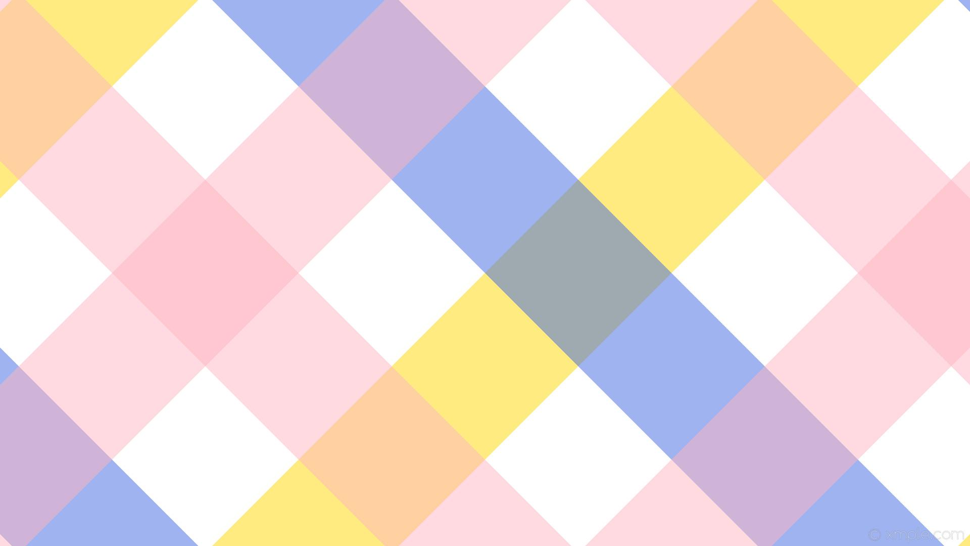 wallpaper pink quad white yellow blue gingham striped gold royal blue light  pink #ffffff #
