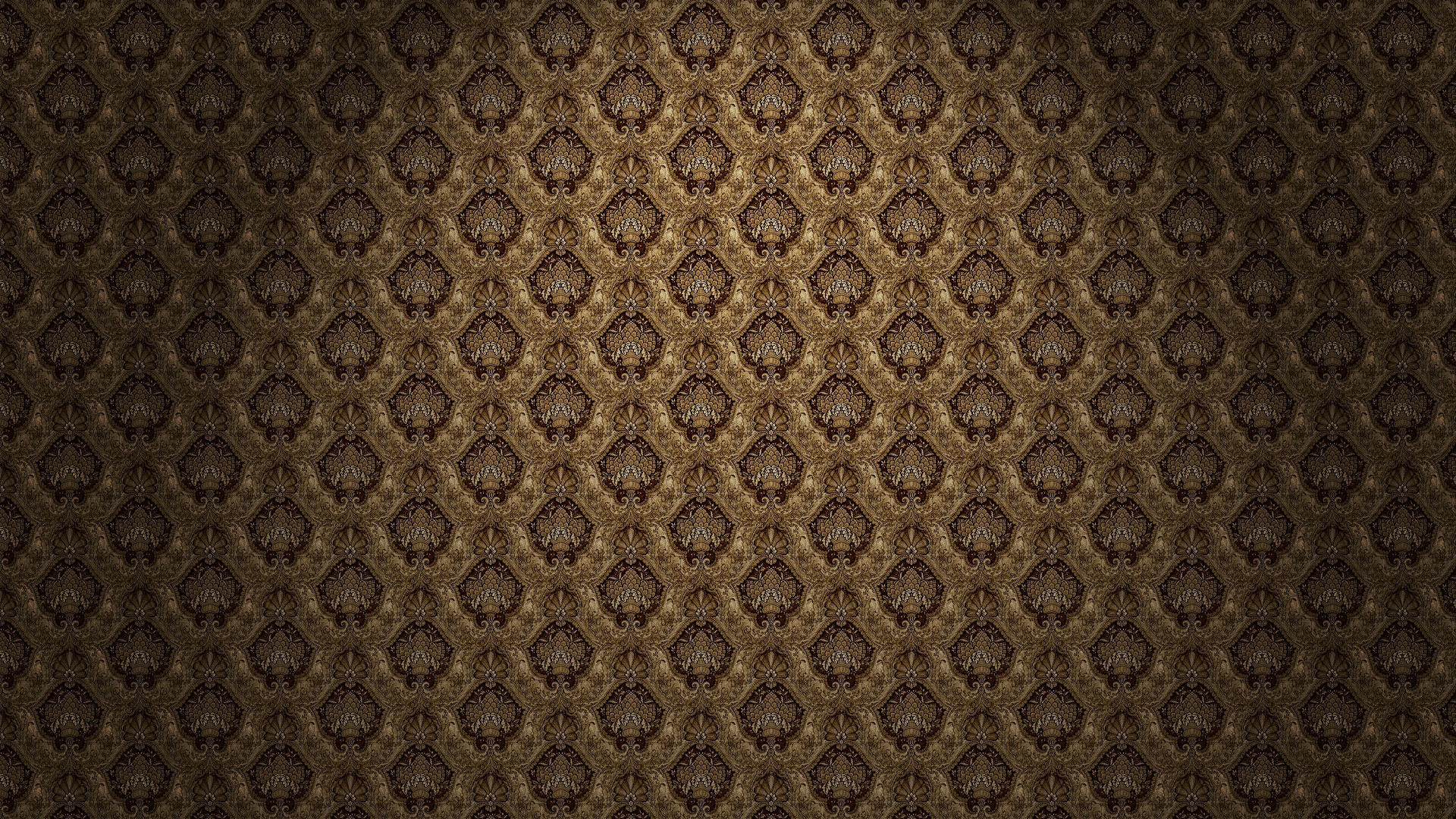 Pattern is also very evident on both the floor and the wallpaper. It almost  looks