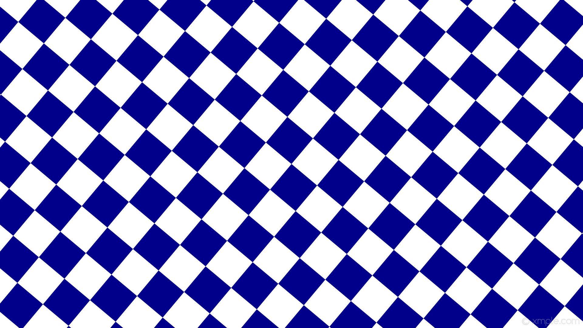 wallpaper checkered blue white squares dark blue #ffffff #00008b diagonal  50° 110px