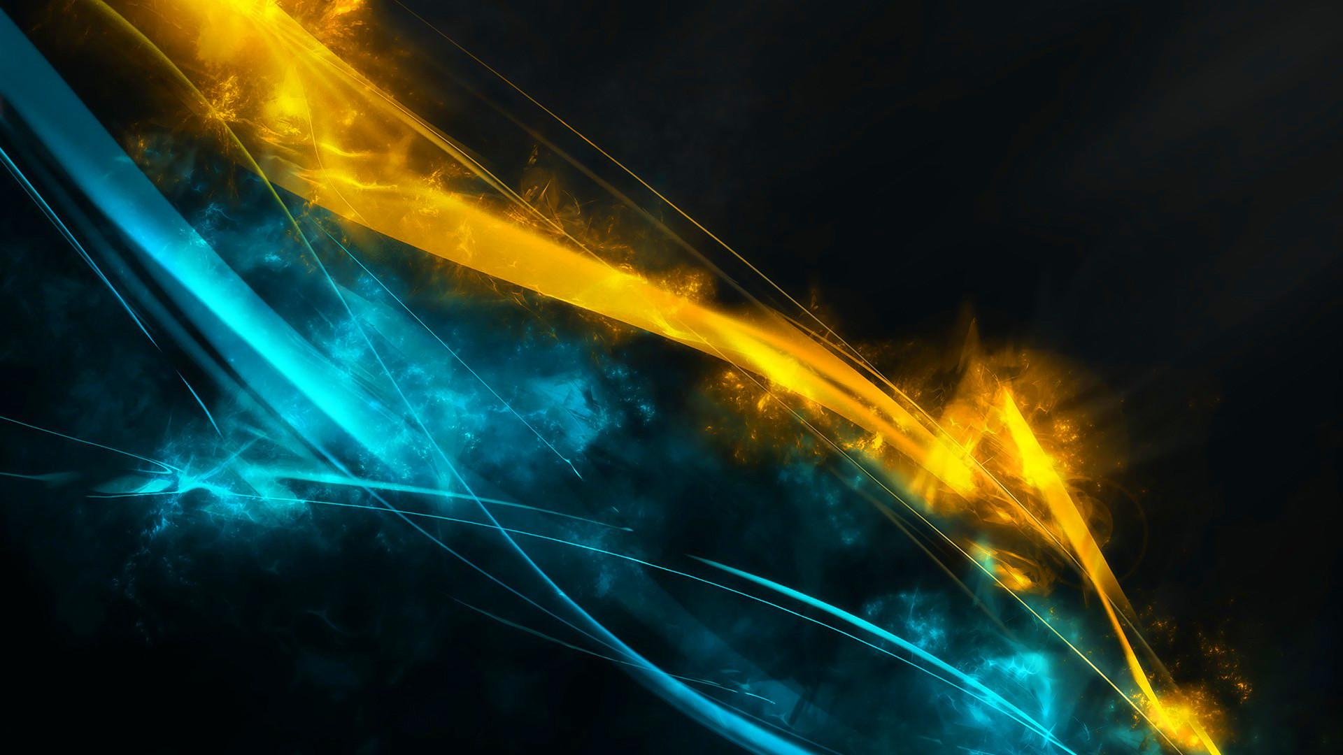 Blue yellow streaks