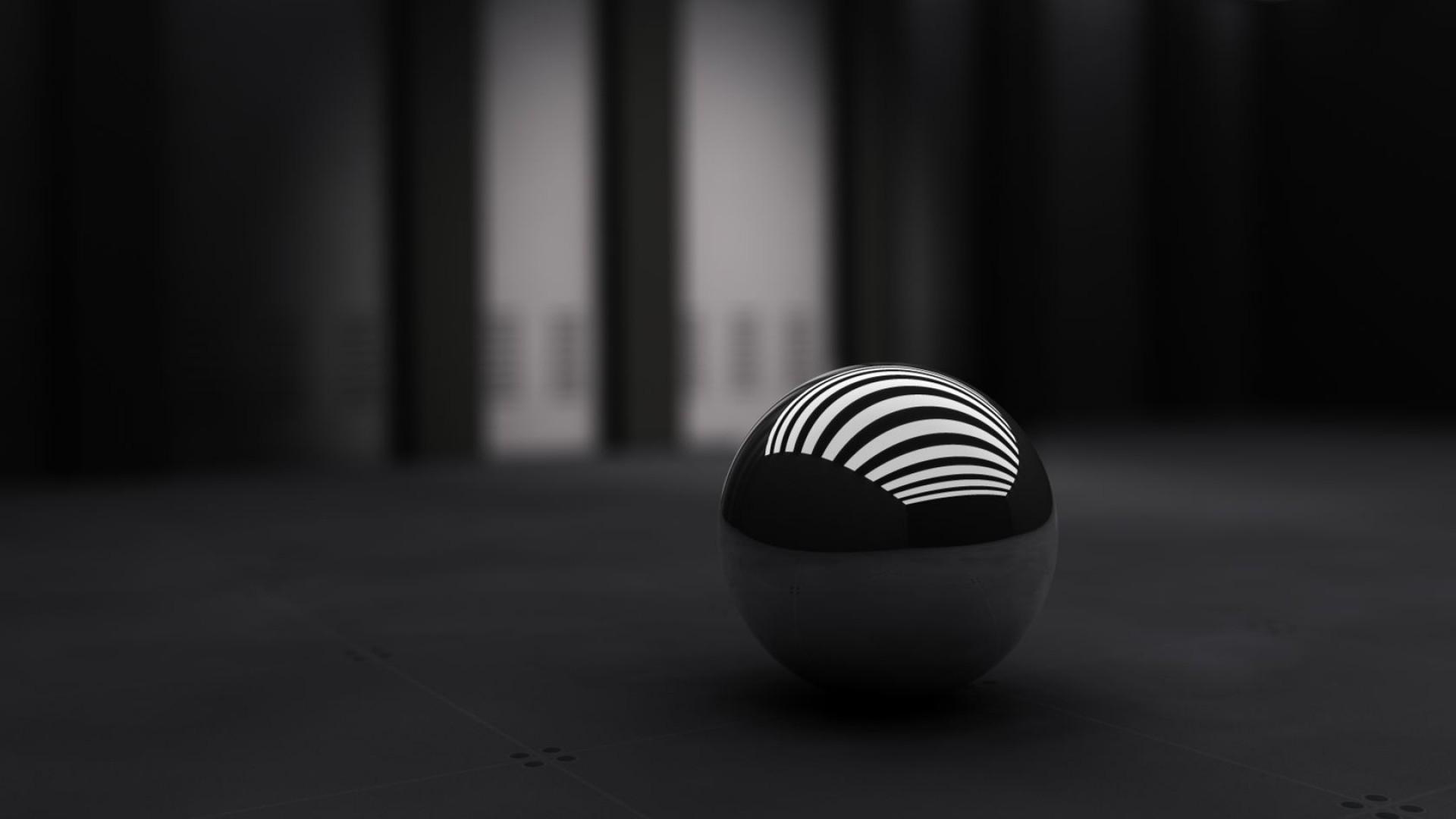 Preview wallpaper black, ball, band, white 1920×1080