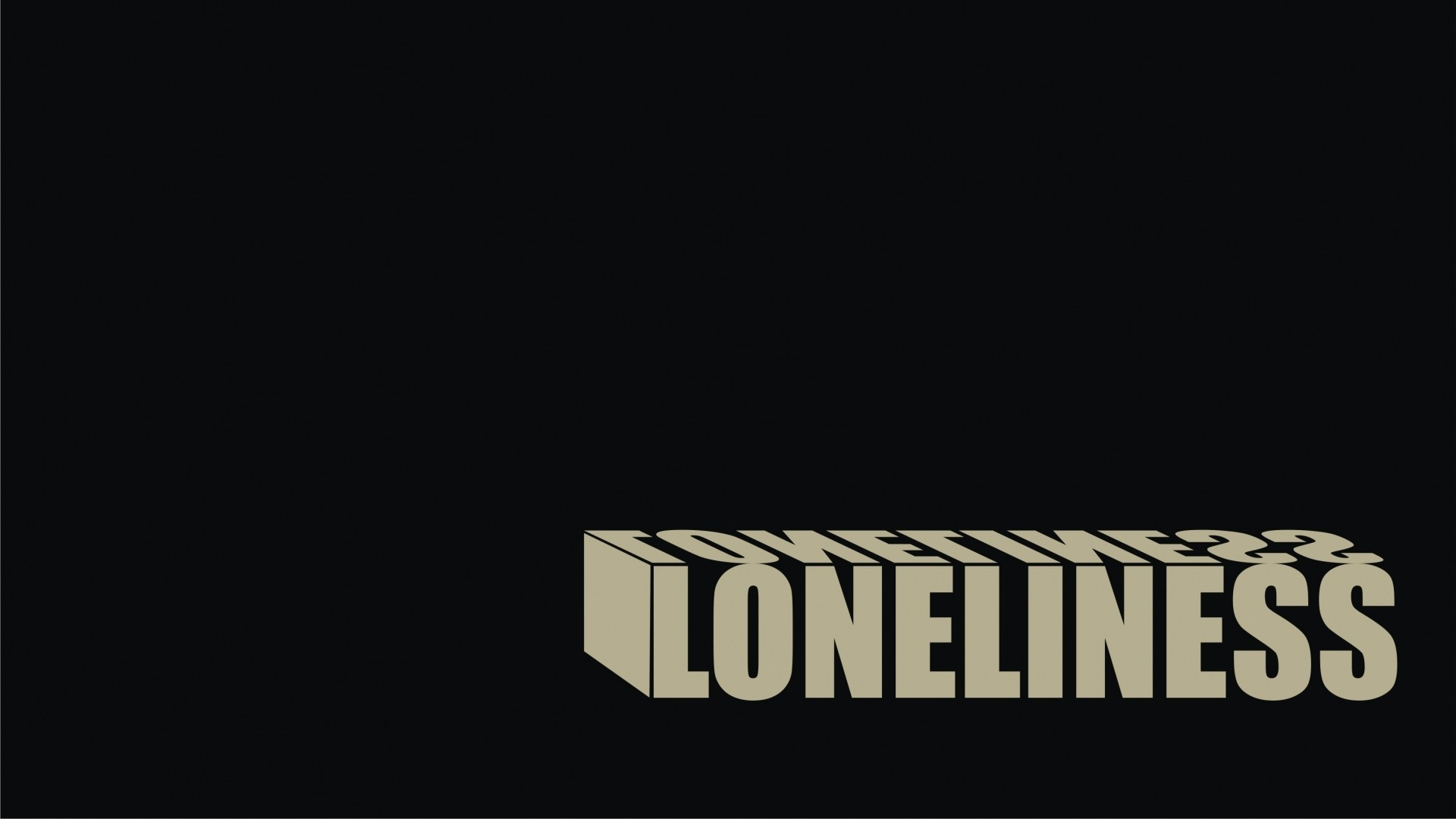 Preview wallpaper black, solitude, loneliness, sign 1920×1080