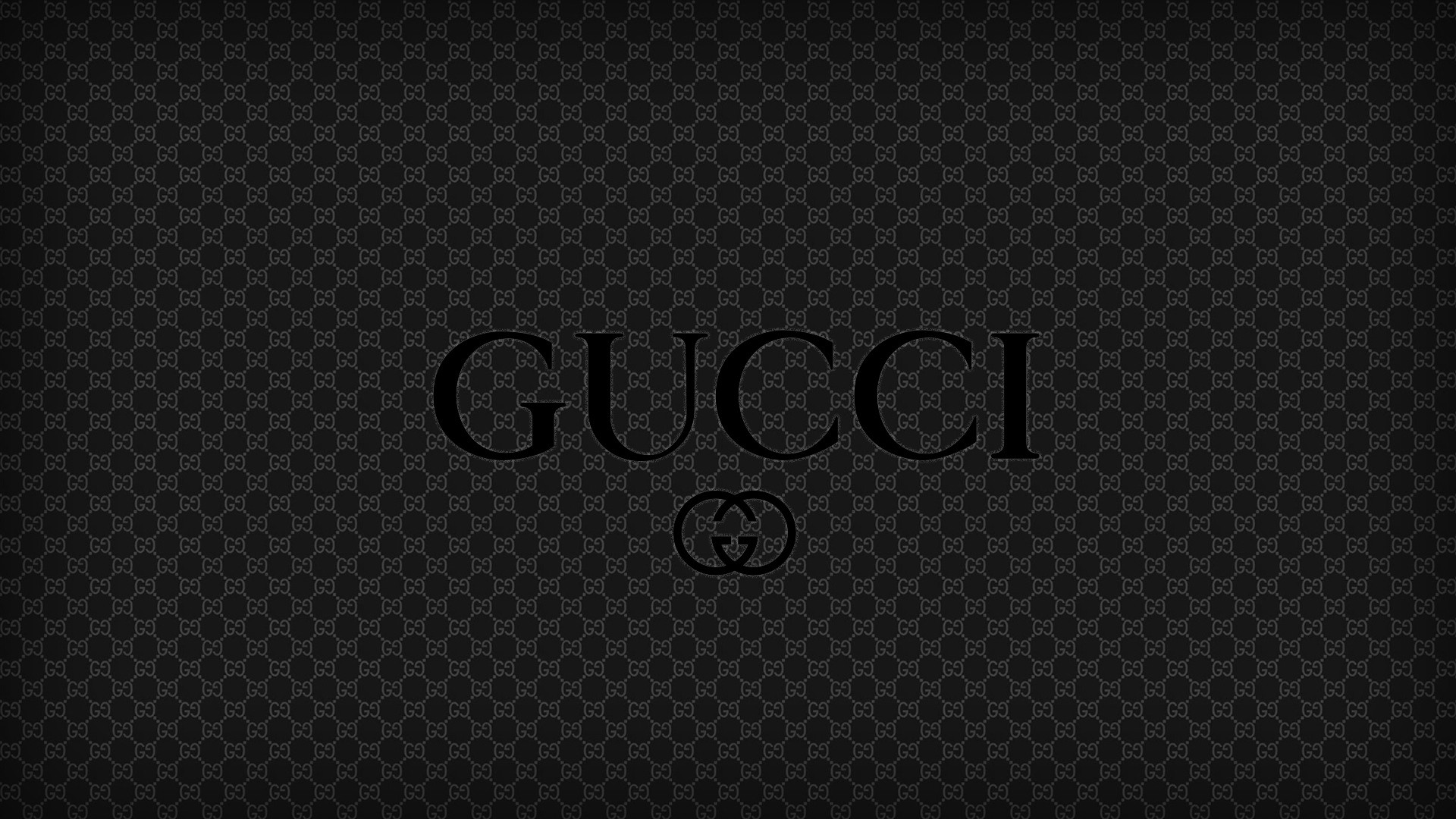 Wallpaper black gucci, logo, brand, quality