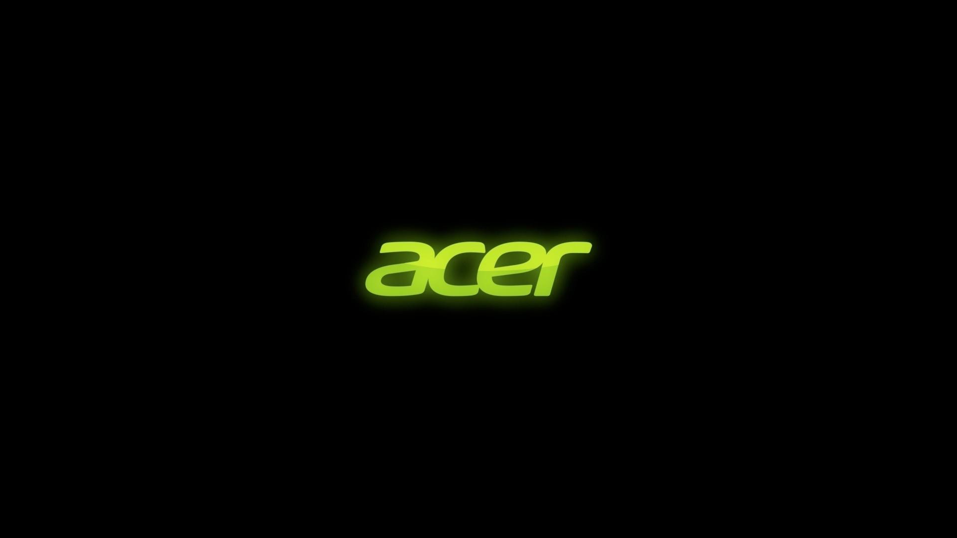 Download Wallpaper Acer, Firm, Green, Black Full HD 1080p HD .