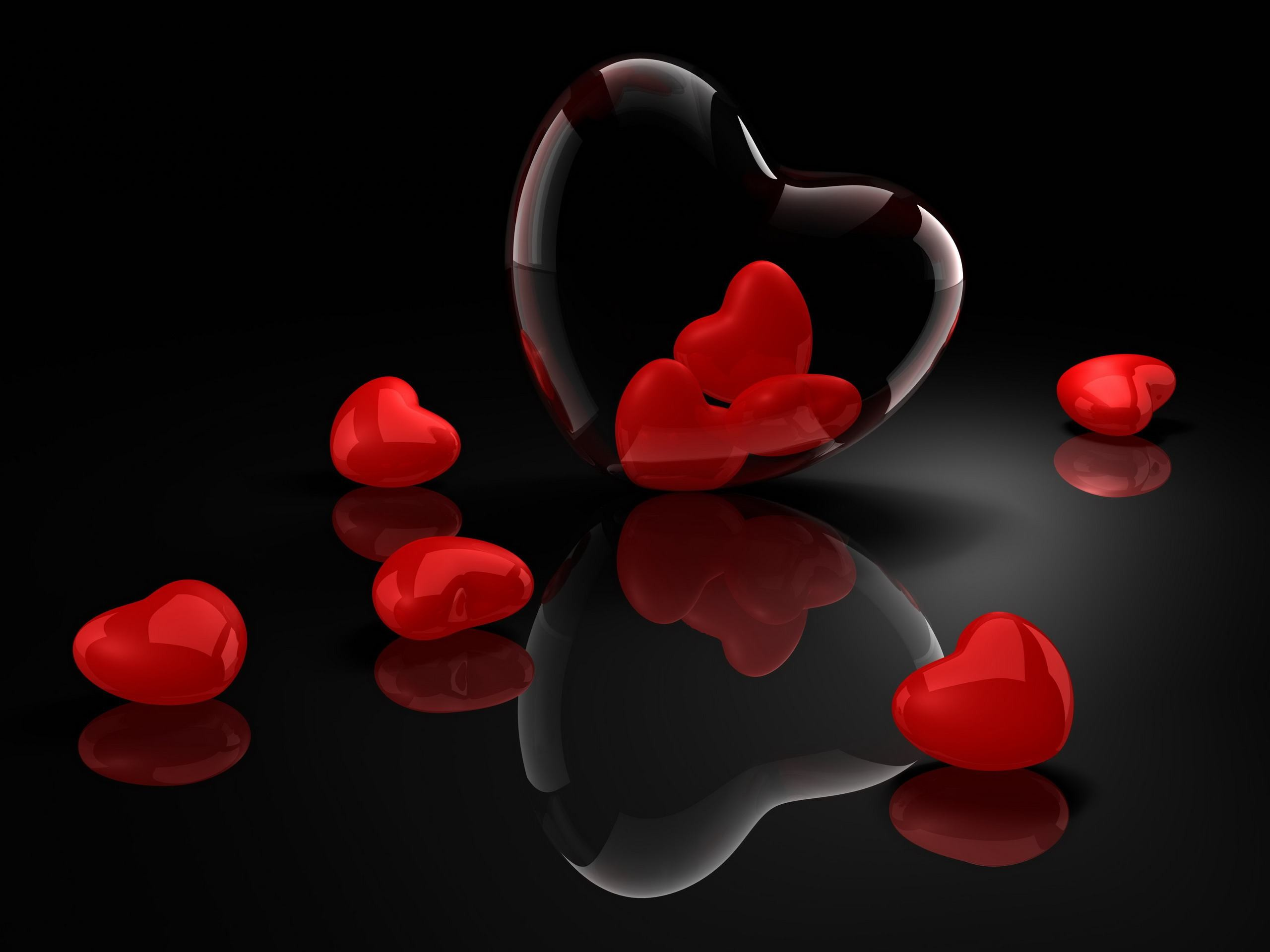 hearts red valentines vista background wallpaper wallpapers HD Wa