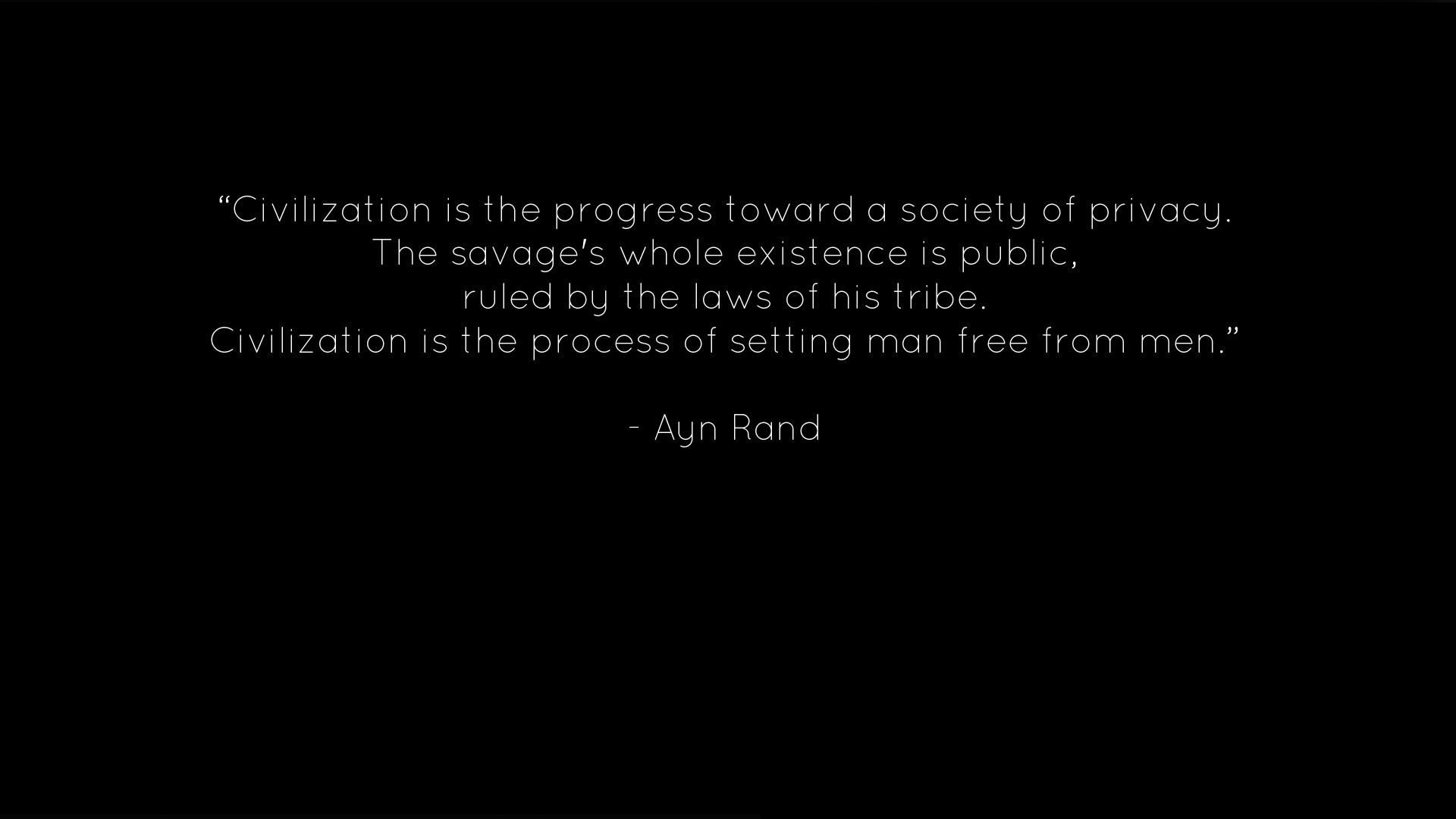 quotes by ayn rand | Text Quotes Ayn Rand Black Background Fresh New HD  Wallpaper Best