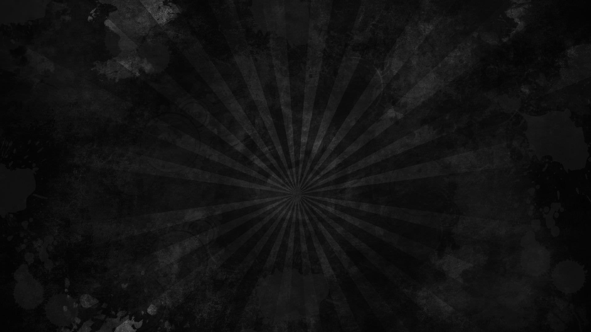Black Grunge Sunburst Wallpaper