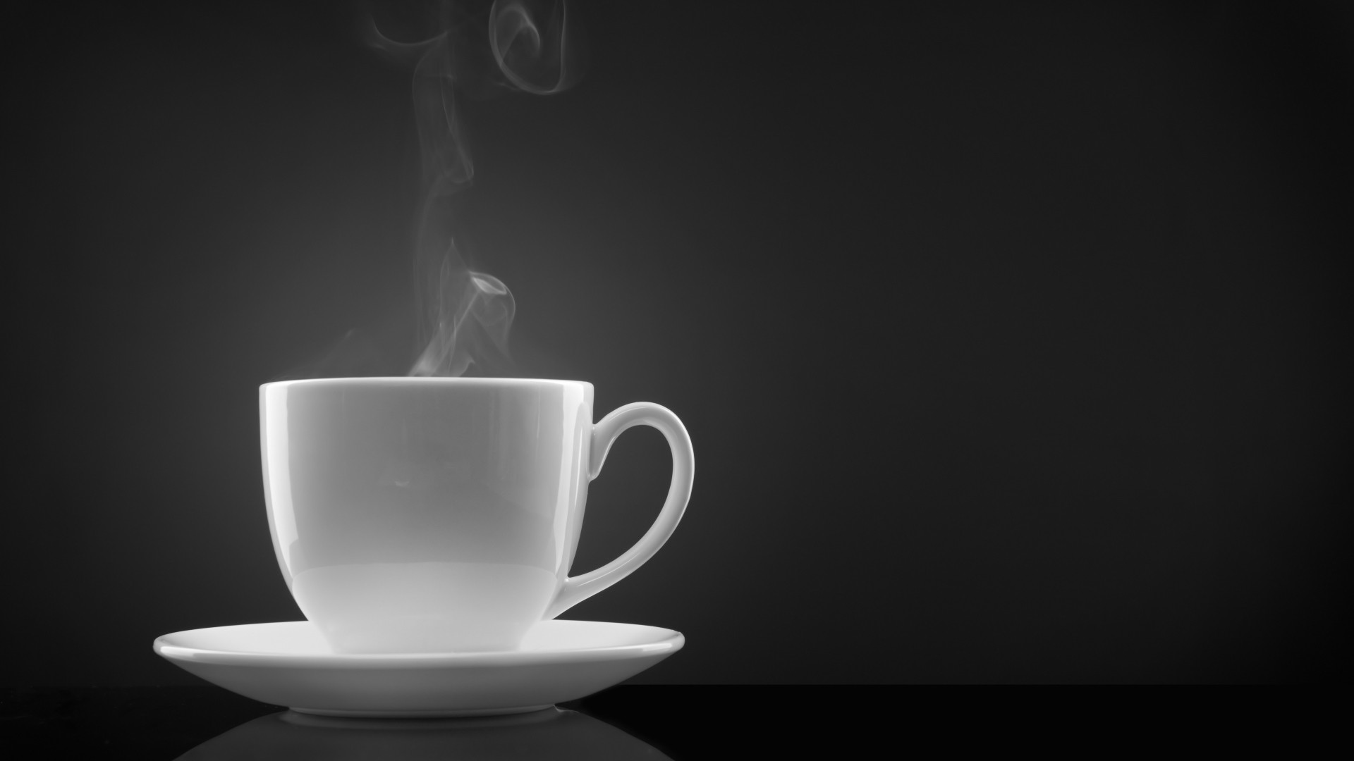 Wallpaper coffee, steam, cup, black background