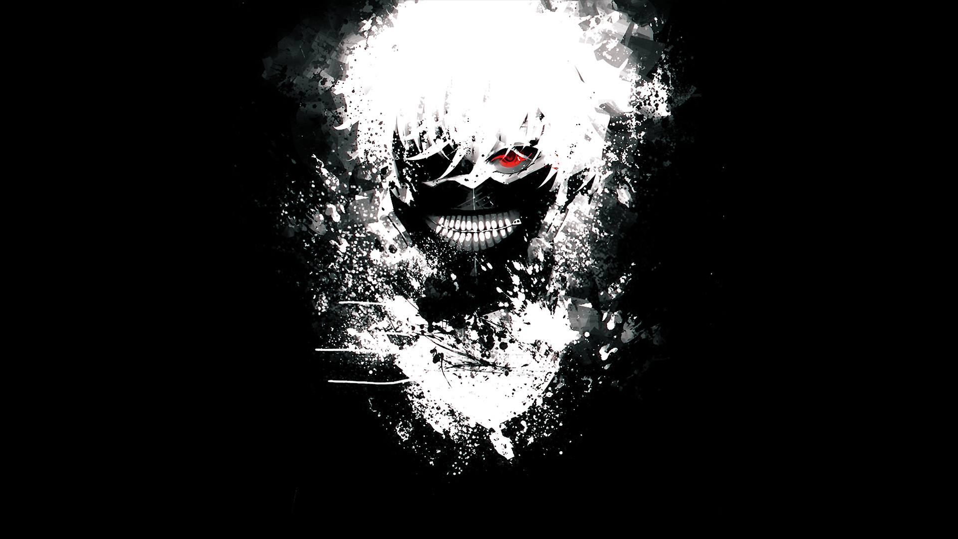 Ken Kaneki Mask Black Background HD Wallpaper