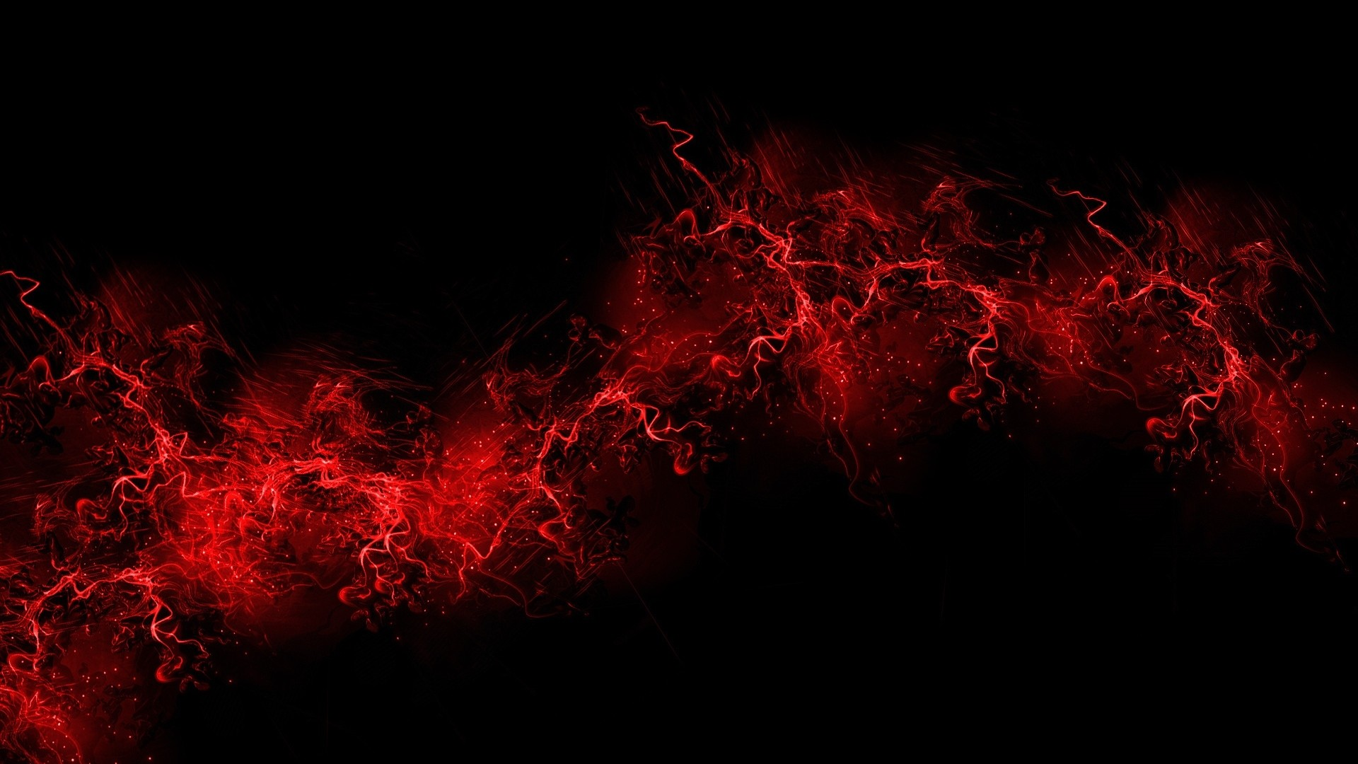 Preview wallpaper black background, red, color, paint, explosion, burst  1920×1080