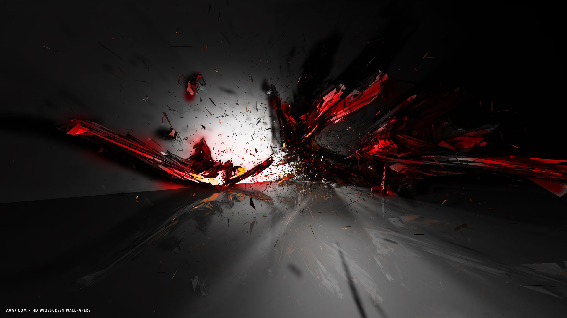 Abstract Explosion Wallpapers 1080p Hd d abstract red black