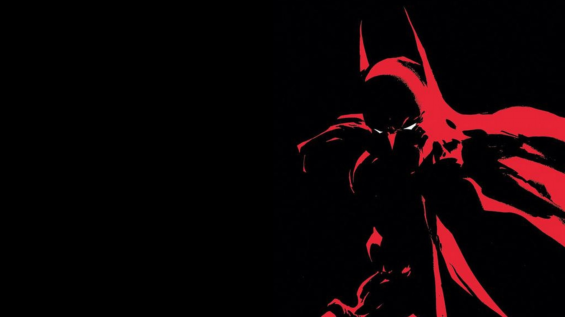 Free batman in red and black wallpaper background
