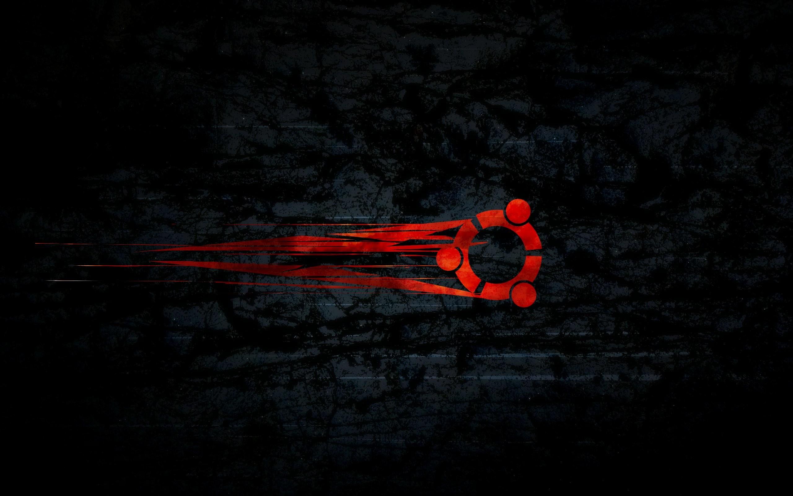 Download HD Shooting Red Ubuntu Logo Wallpaper For Free