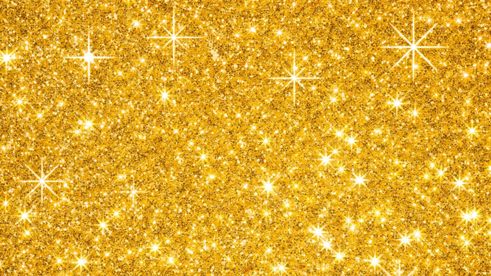 Gold Glitter Wallpaper HD For Desktop.