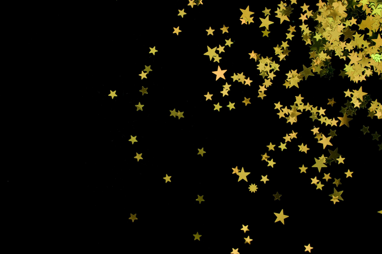 Black And Gold Glitter Wallpaper