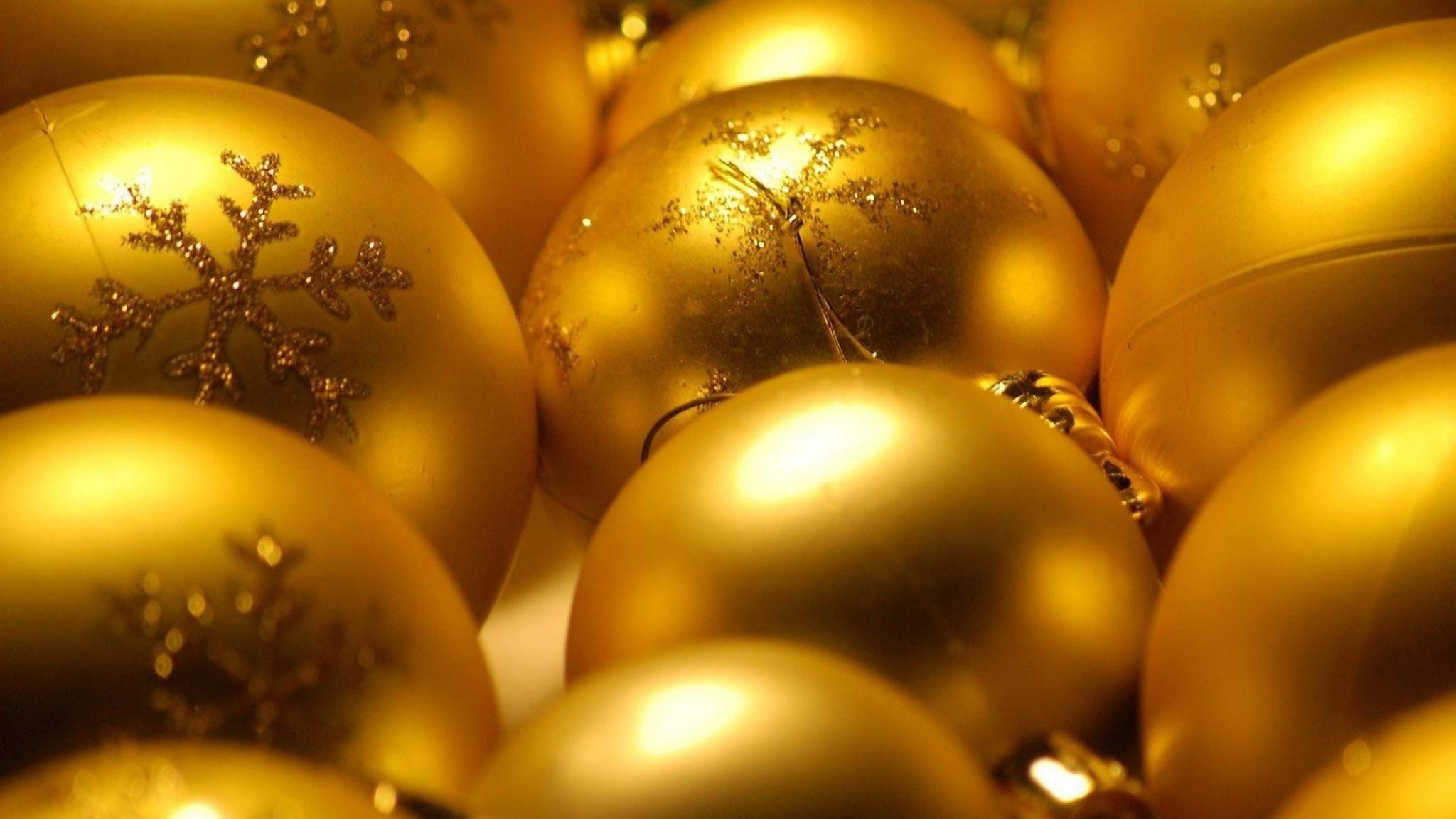 Wallpaper christmas decorations, balloons, gold, glitter