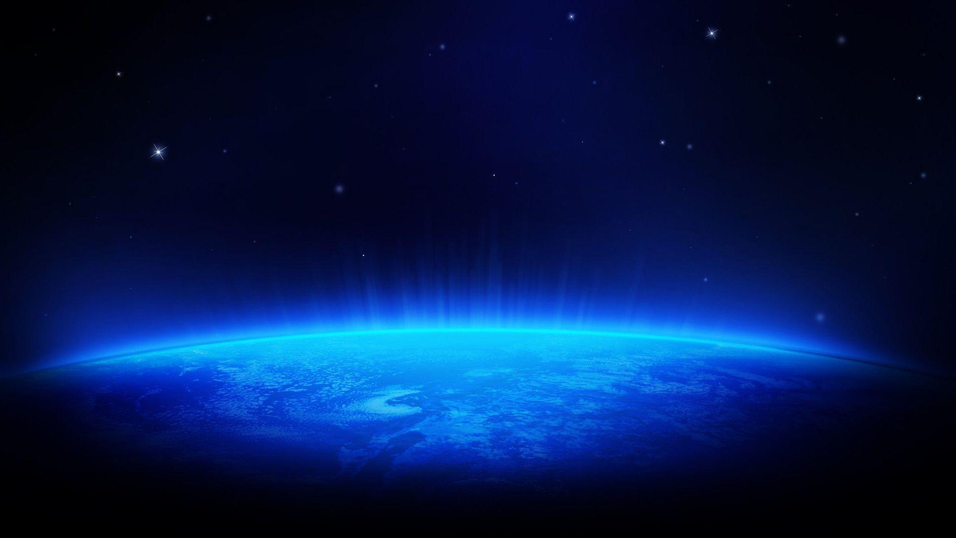 Blue Space HD Wallpaper @ 1080p HD Wallpapers