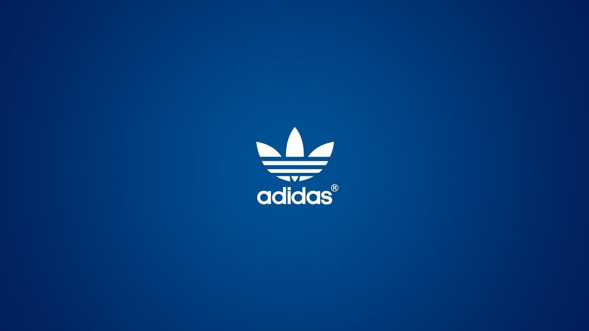 Adidas Blue Logo HD Wallpaper 1080p