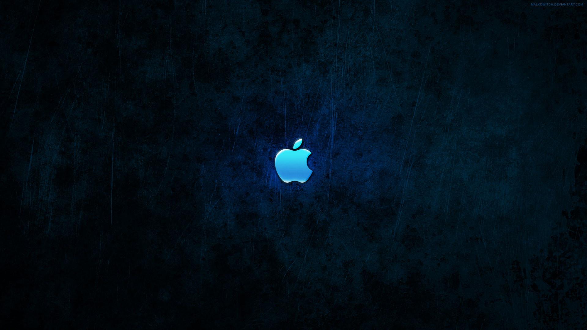 hd pics photos blue dark apple logo desktop background wallpaper