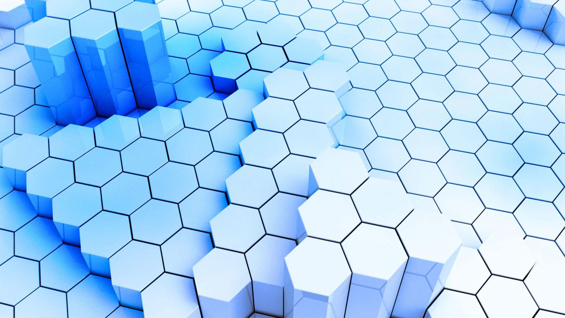 hd pics photos best 3d polygon hexagon pattern blue hd quality desktop  background wallpaper