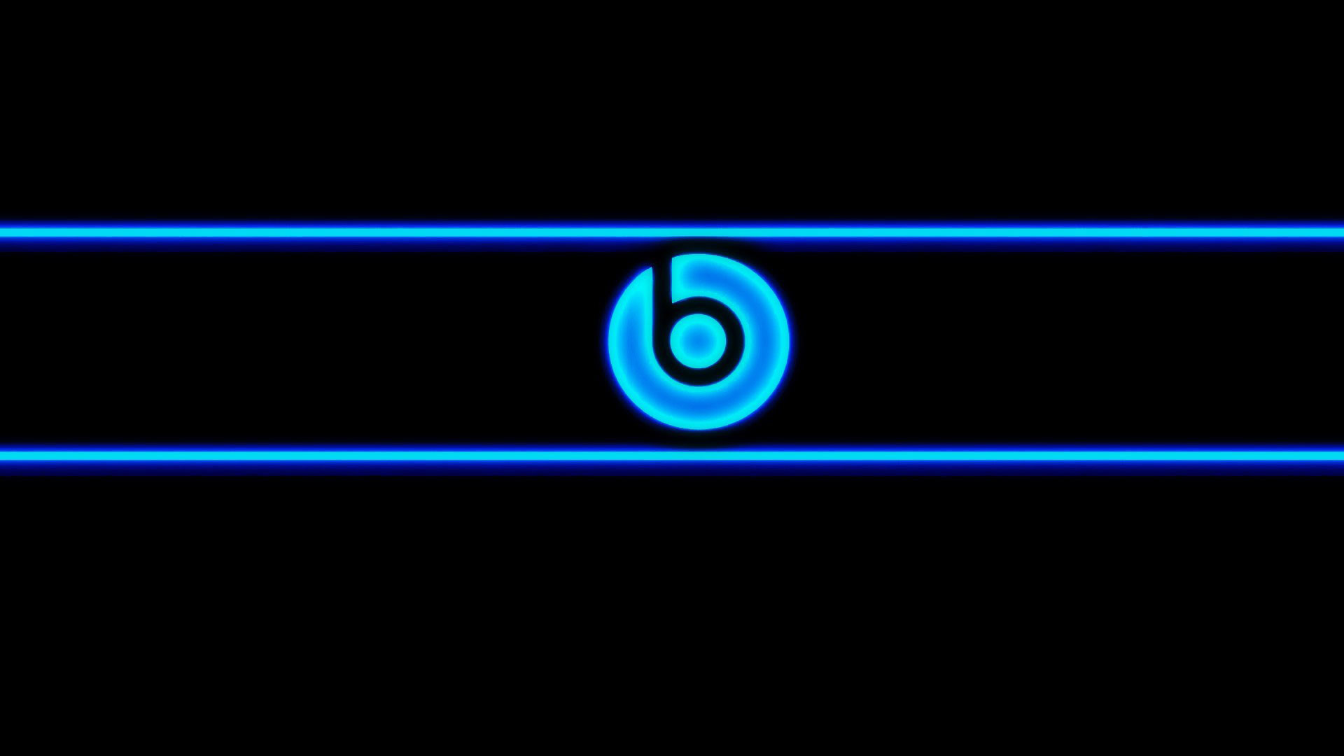 hd pics photos blue beats audio neon blue desktop background wallpaper