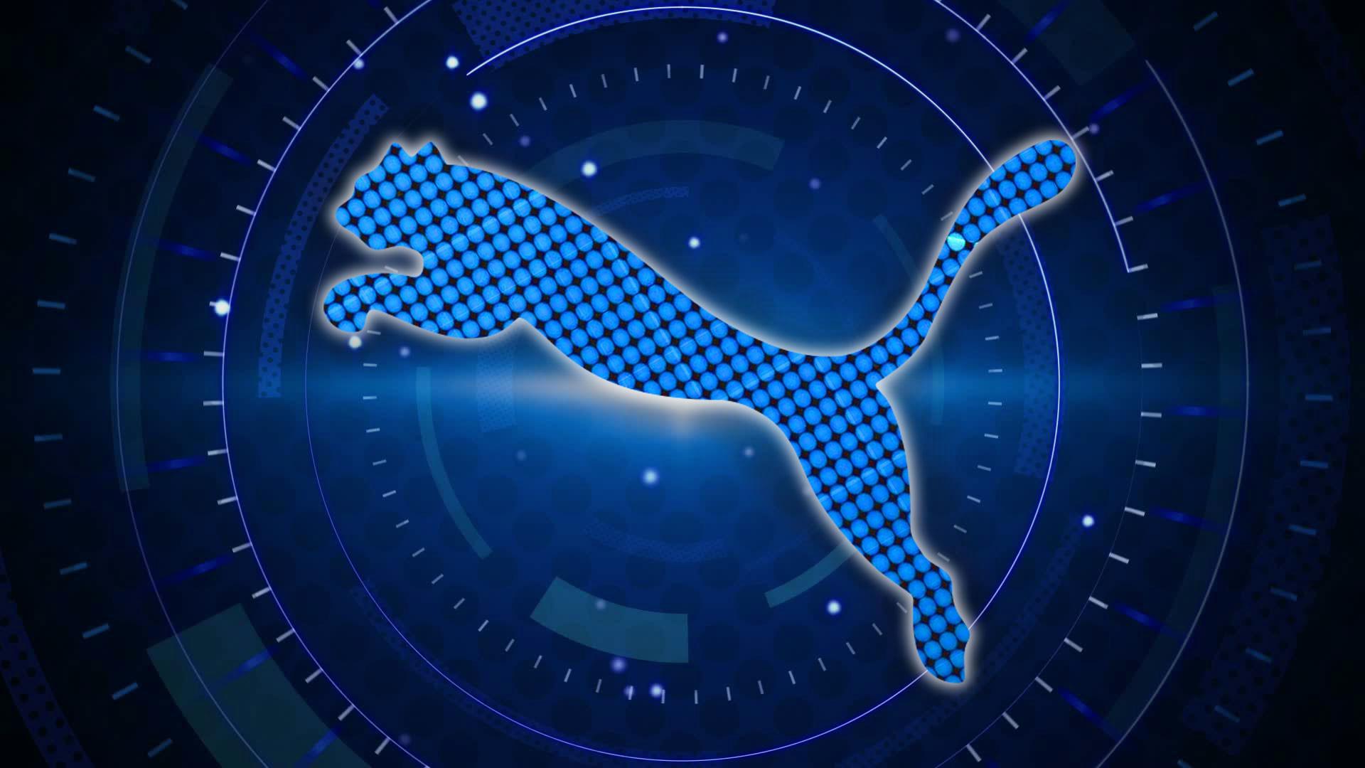 hd pics photos new attractive puma logo digital technology blue hd quality  desktop background wallpaper