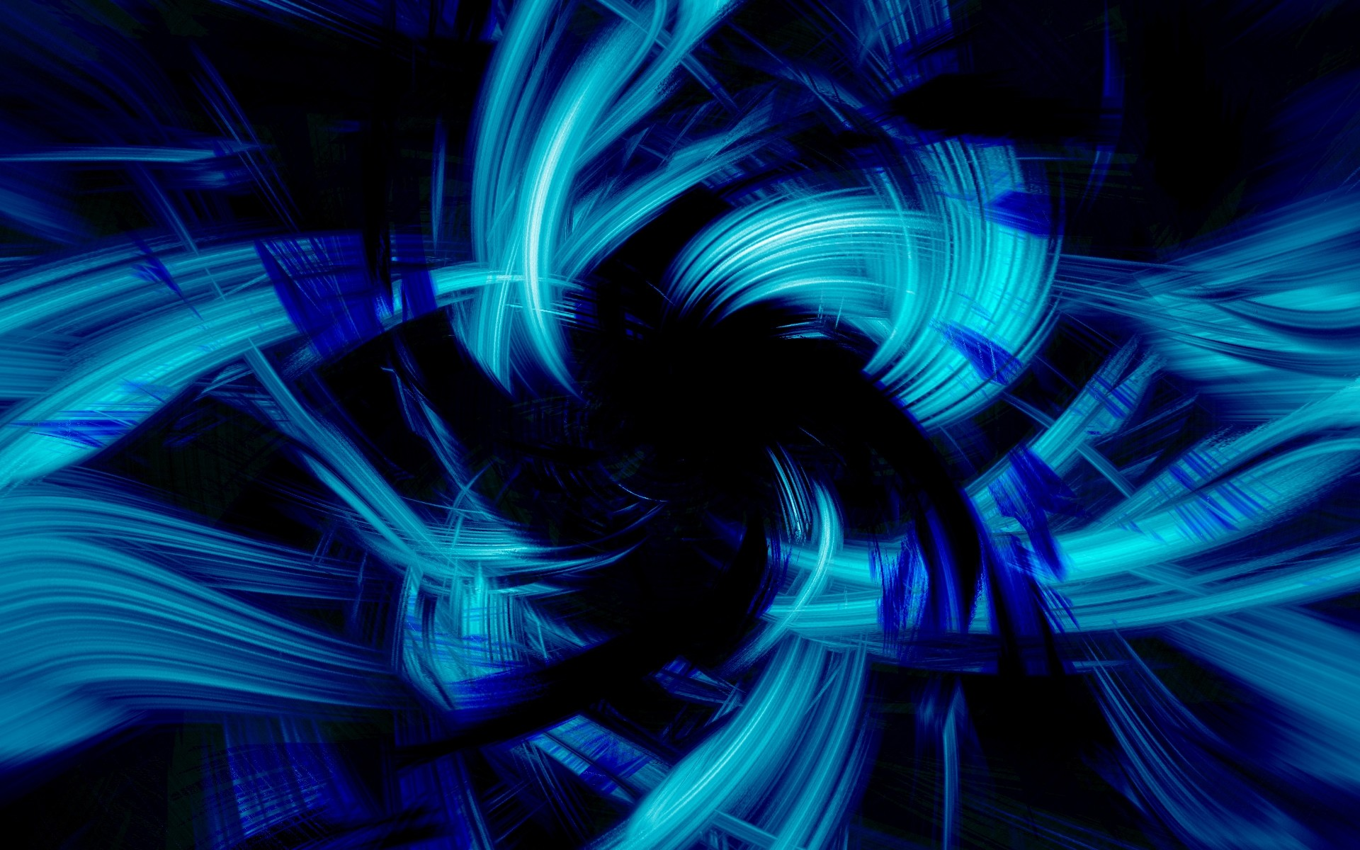 Preview wallpaper blue, black, abstract, brush 1920×1200